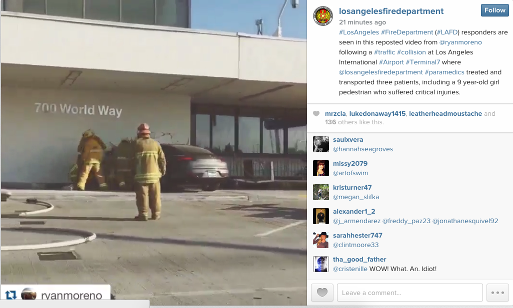 LAX Car Crash Video