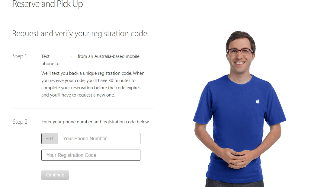 apple watch reservation process