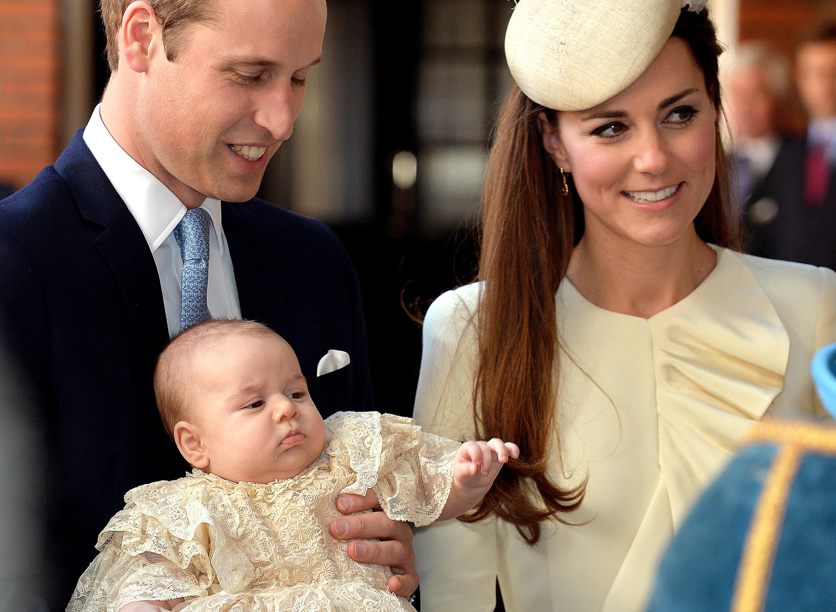 william george and kate christening