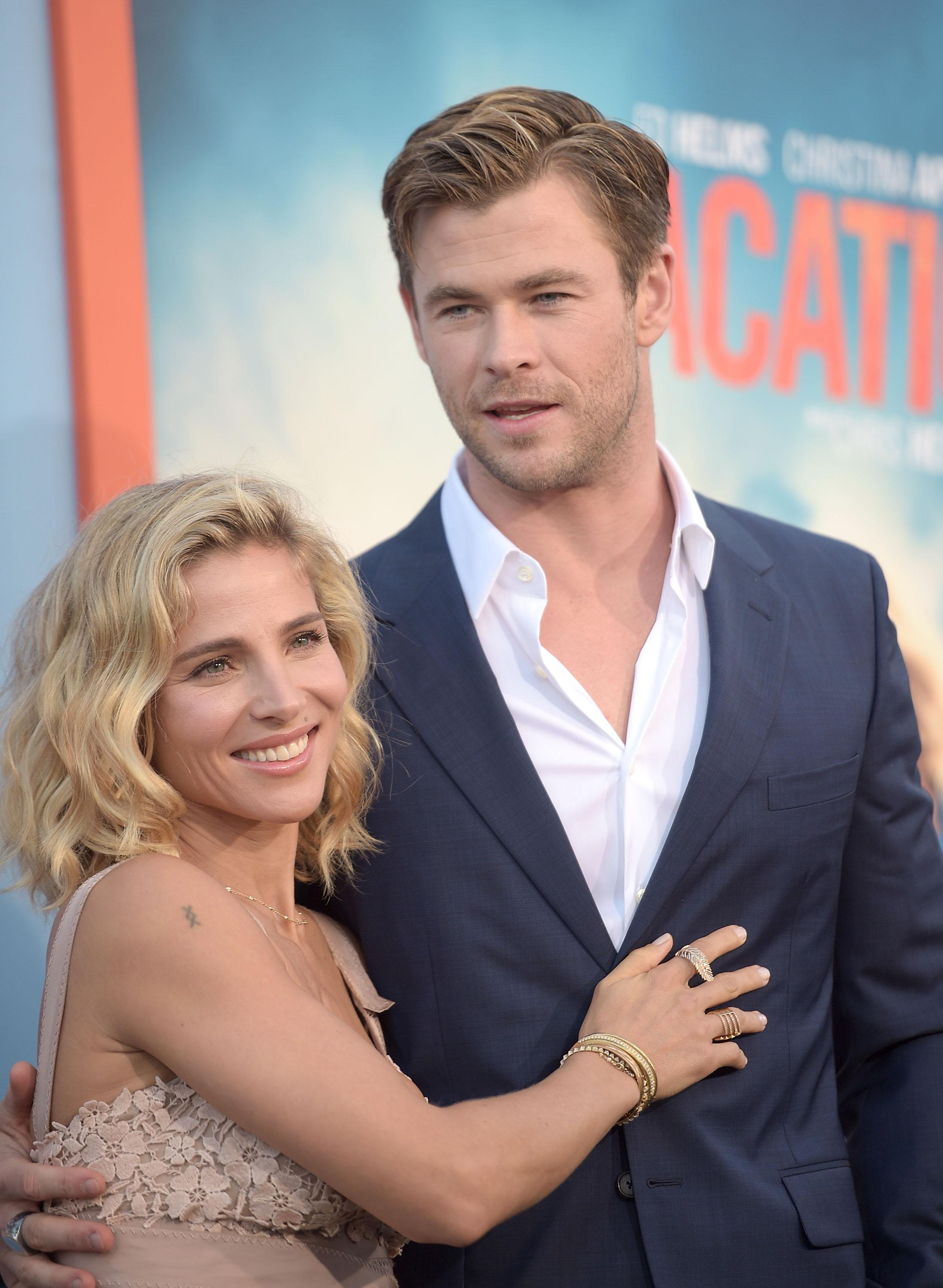 chris hemsworth and his wife