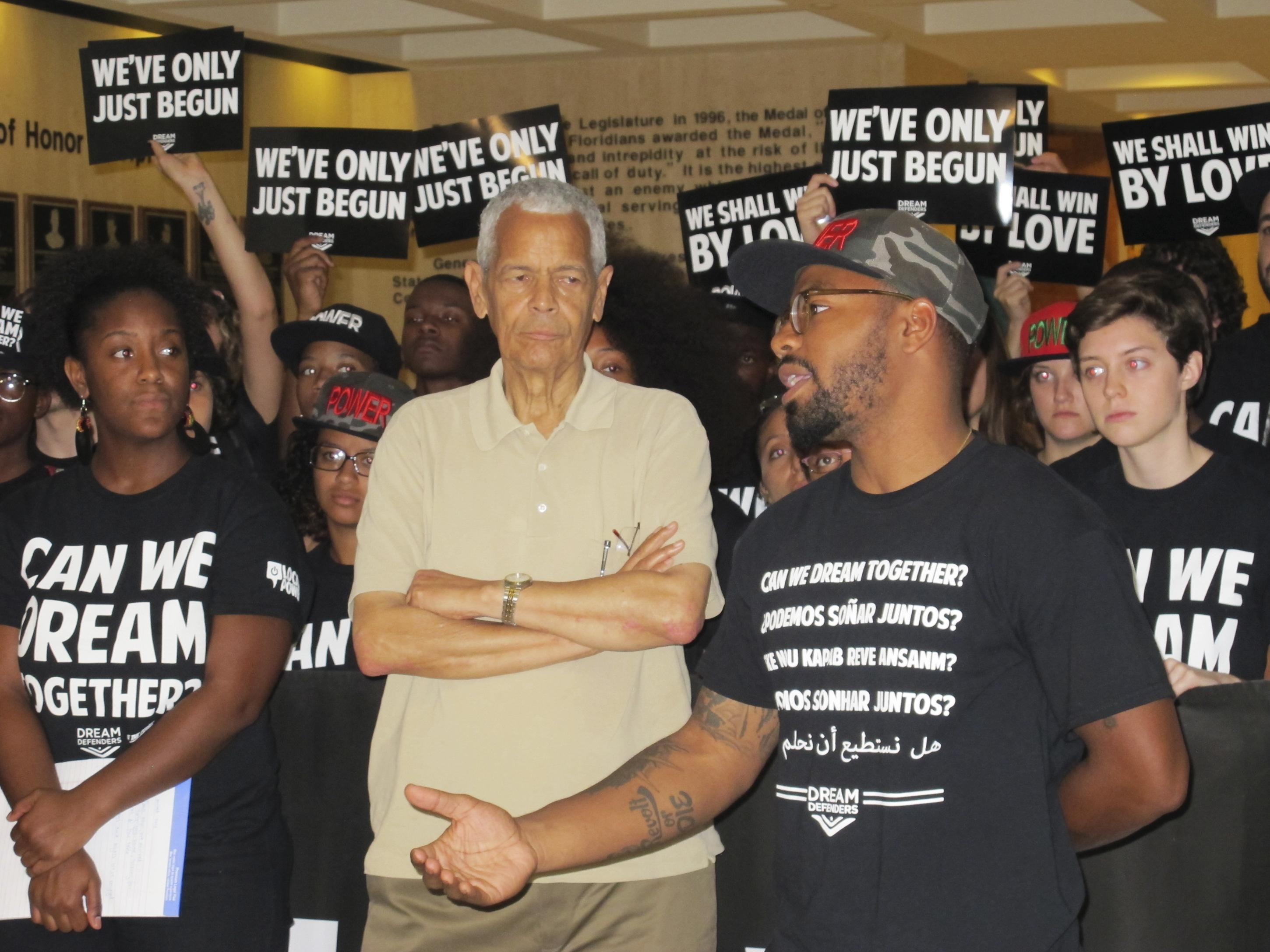 Julian Bond, Trayvon Martin protests