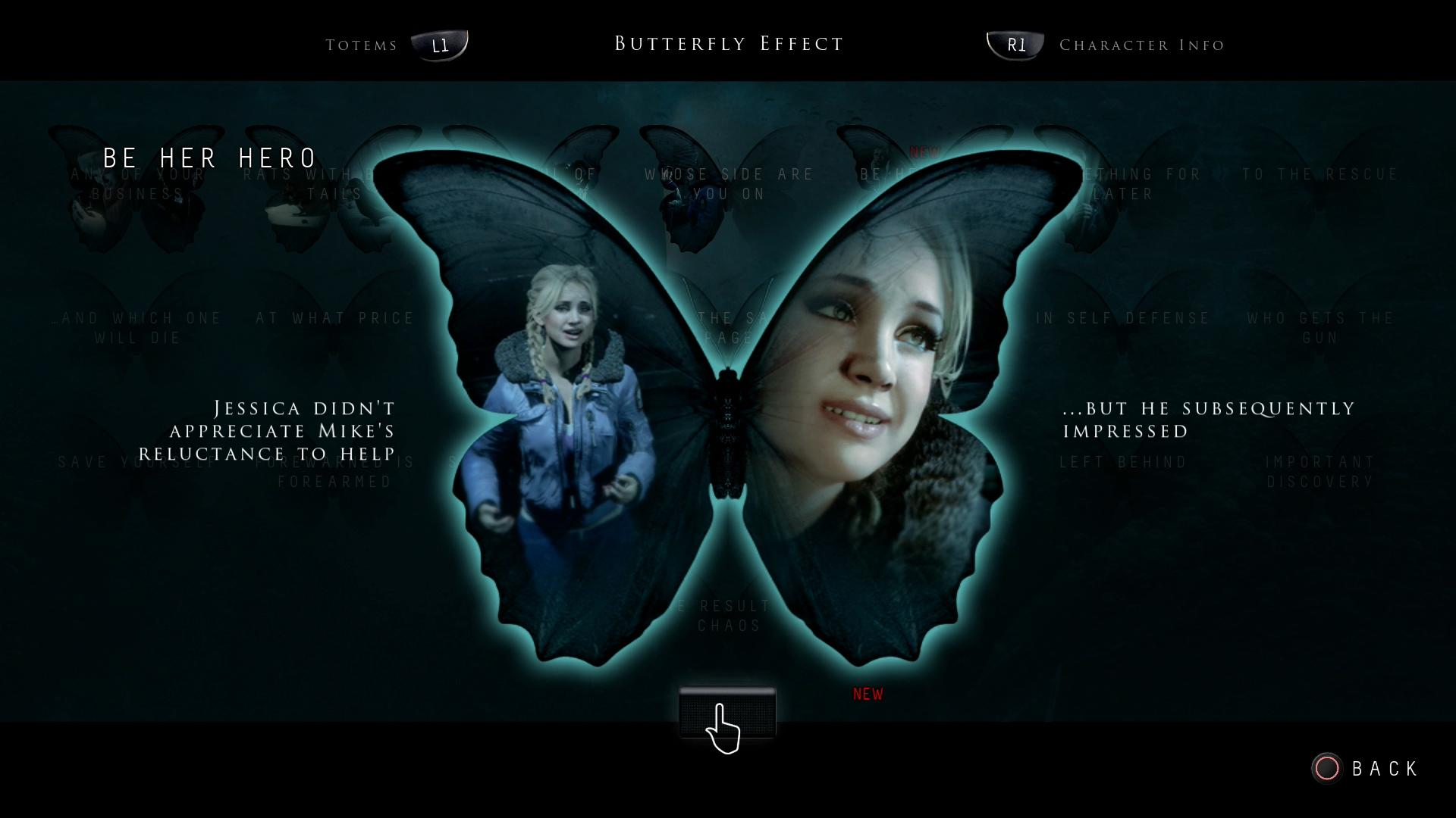 Until Dawn Butterfly Effect