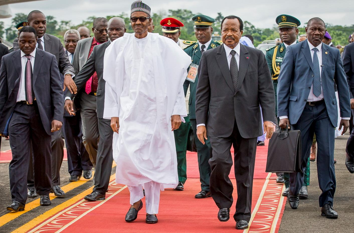 Muhammadu Buhari and Paul Biya
