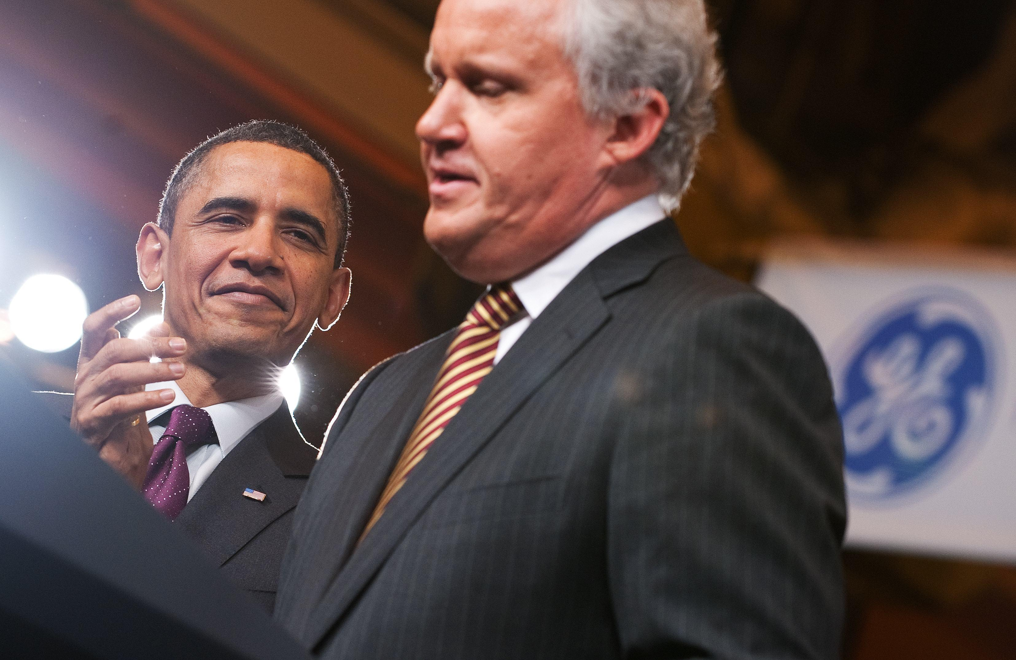 President Obama and GE's Jeff Immelt