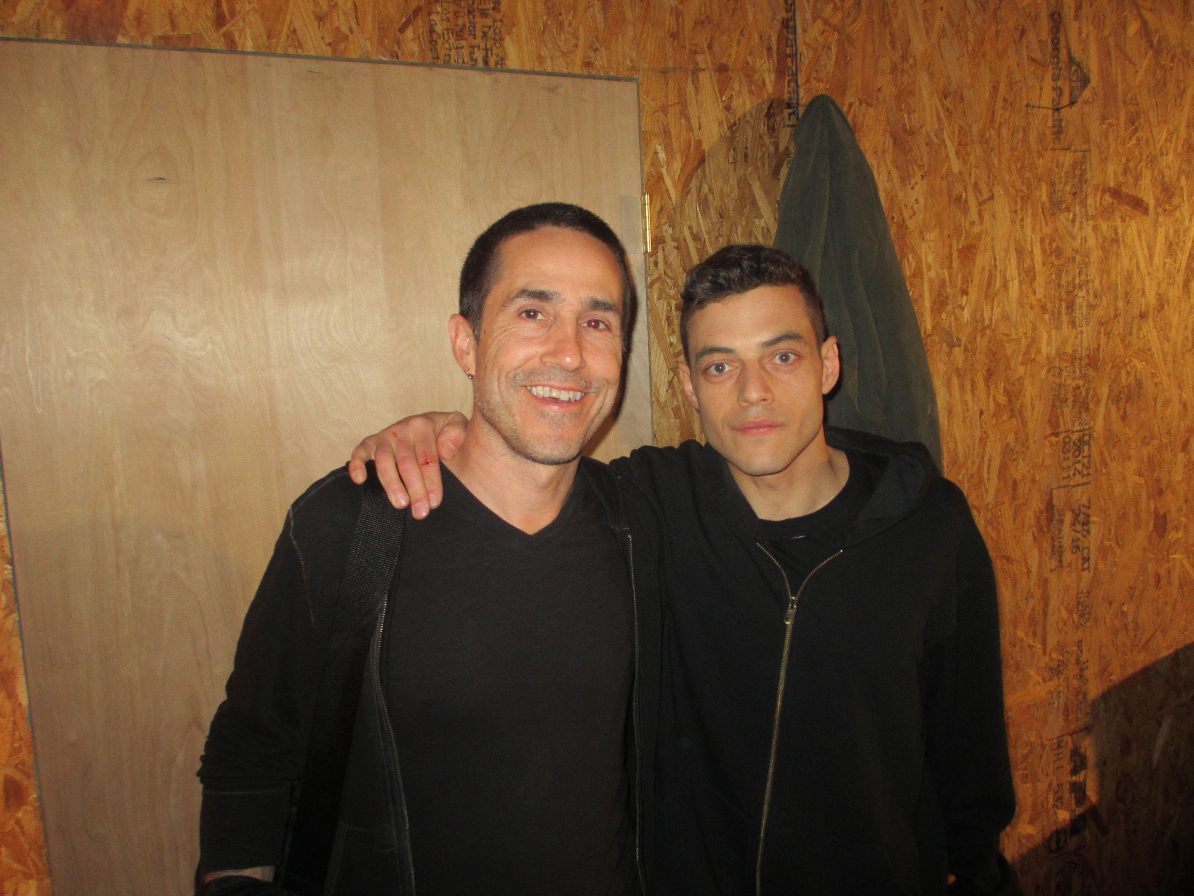 Mac Quayle and Rami Malek on Mr. Robot