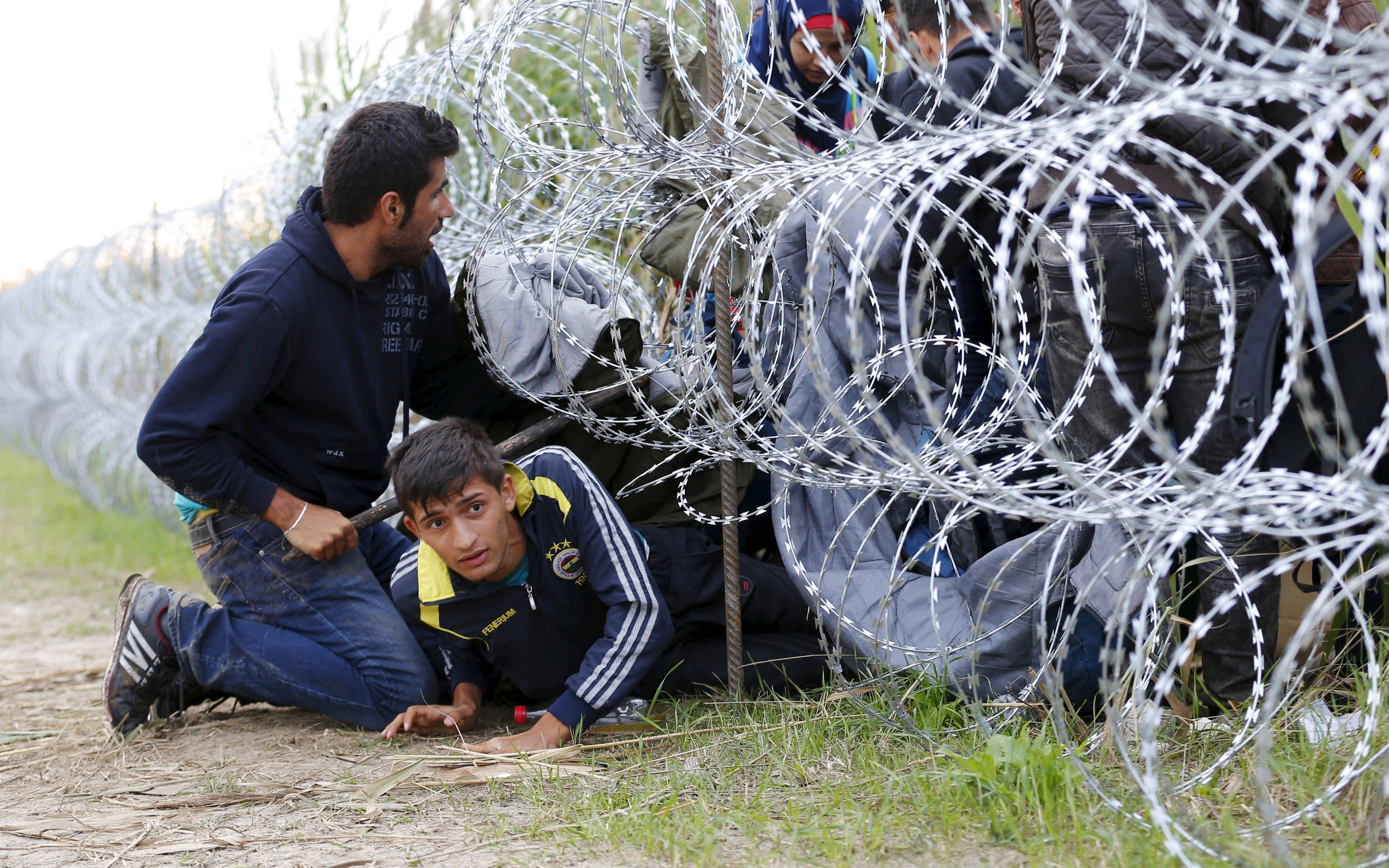 Syrian migrants in Hungary