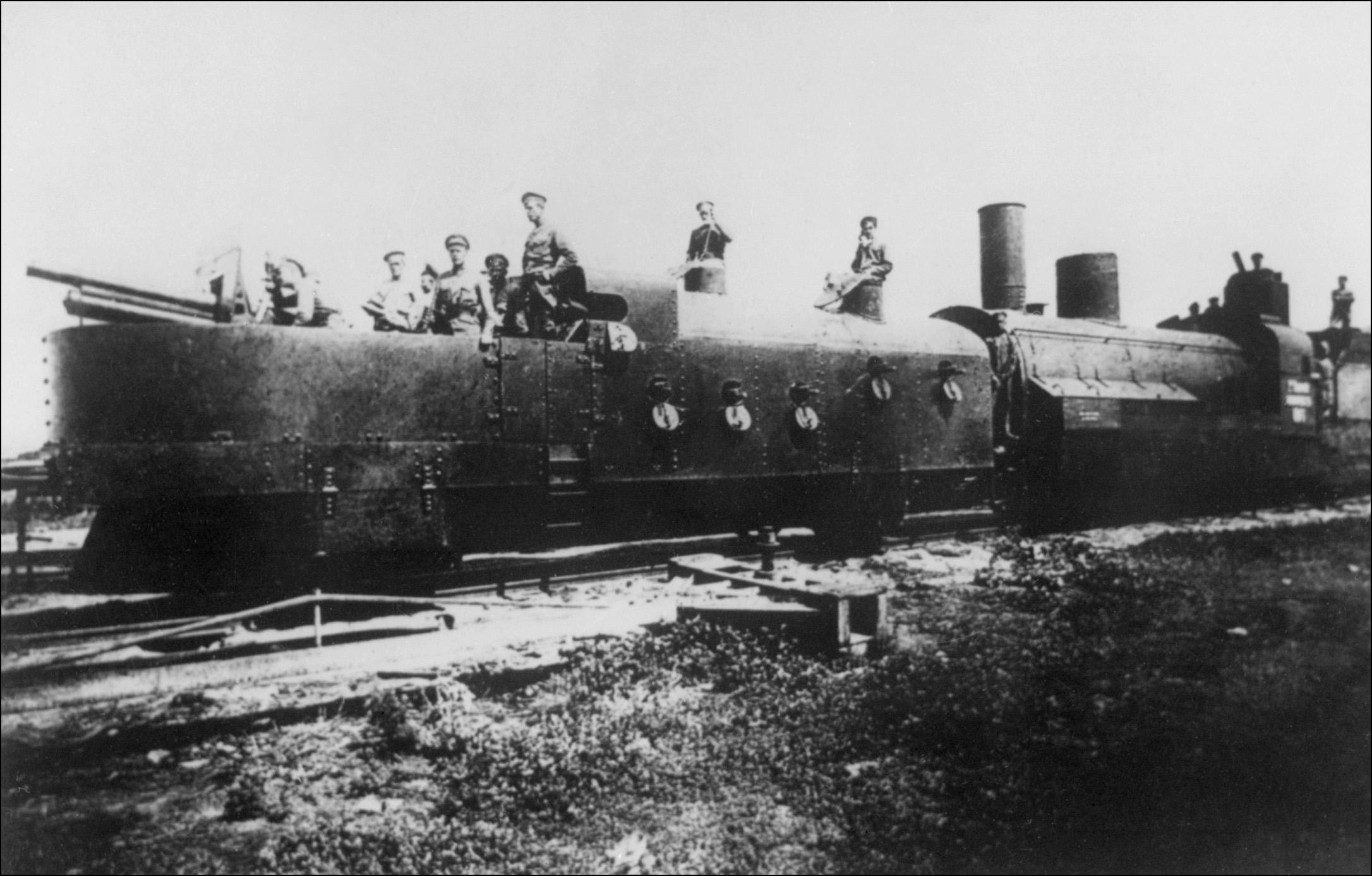 A Russian armored train from 1918