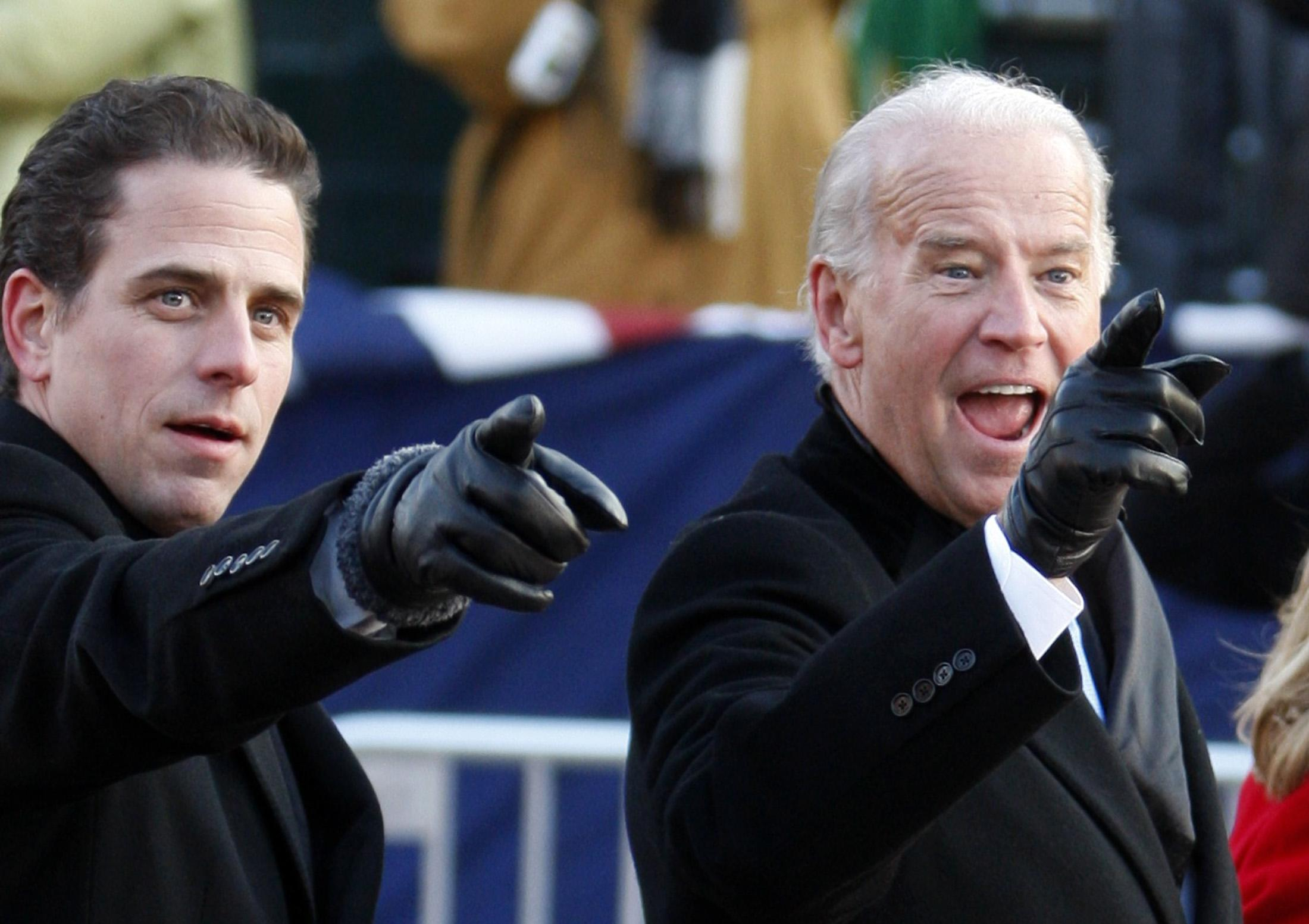 Biden and son