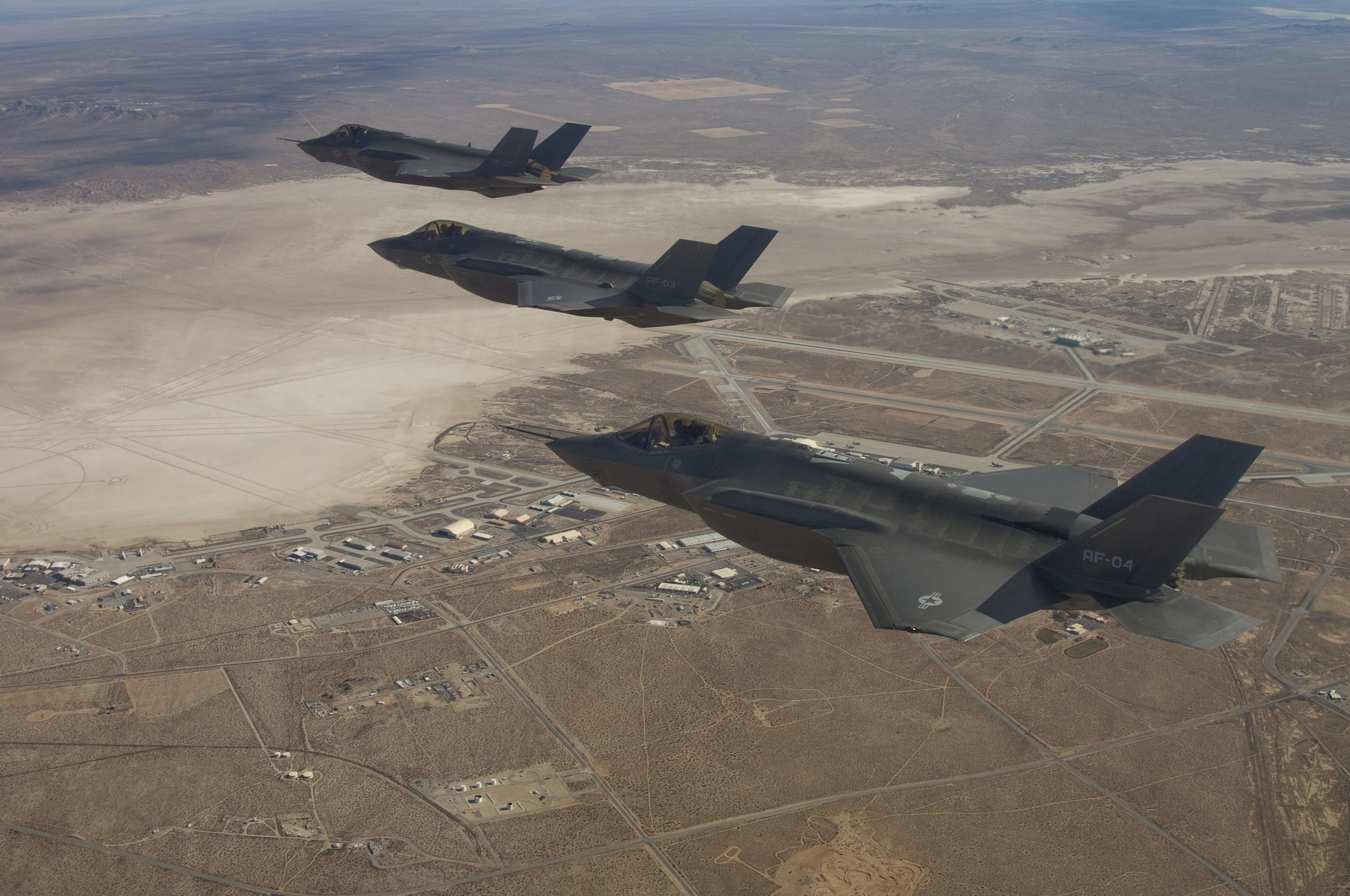 F-35 Joint Strike fighter over Edwards