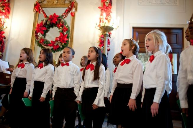 christmas kids singing -- Chuck Kennedy