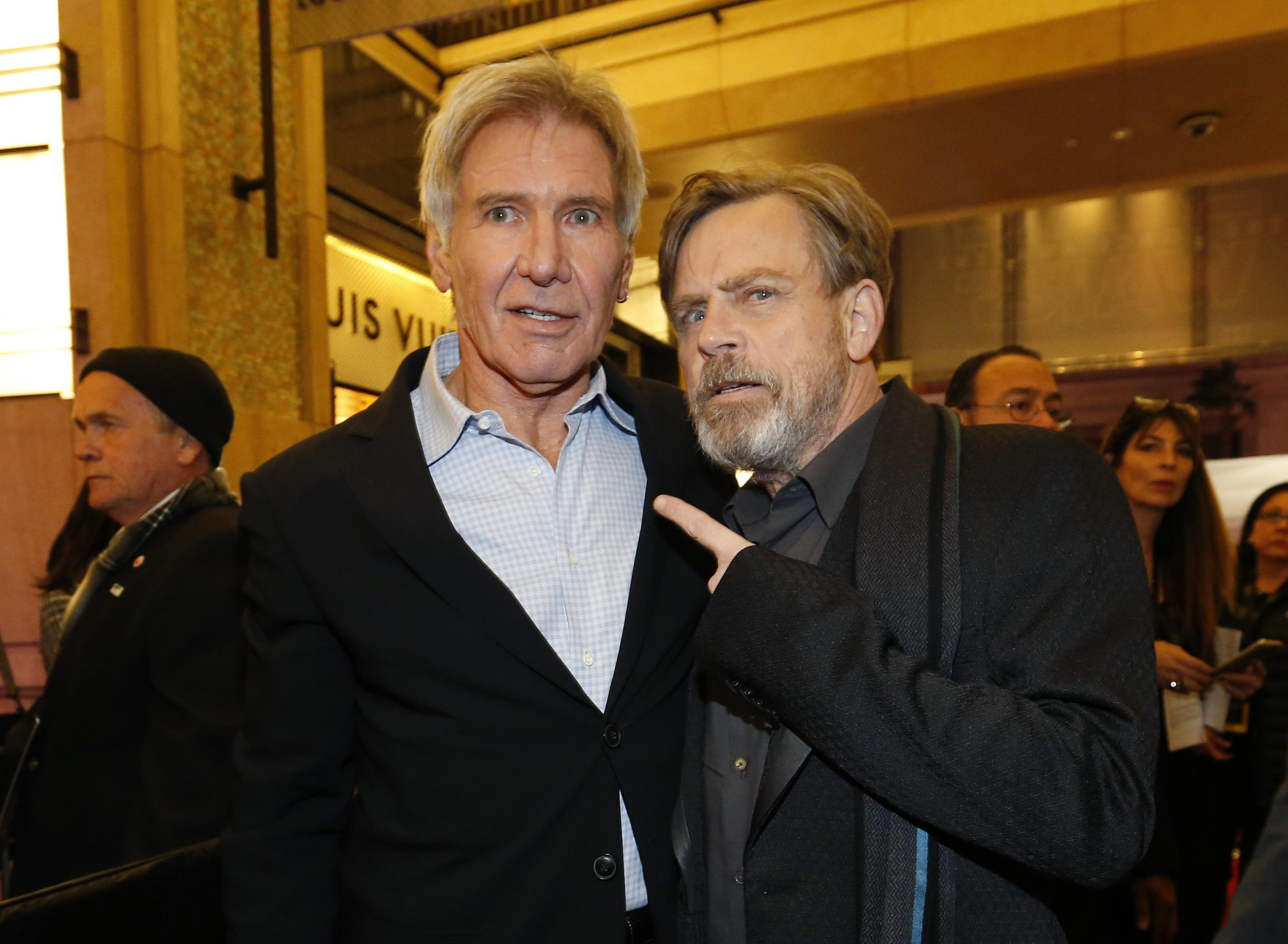 Harrison Ford and Mark Hamill