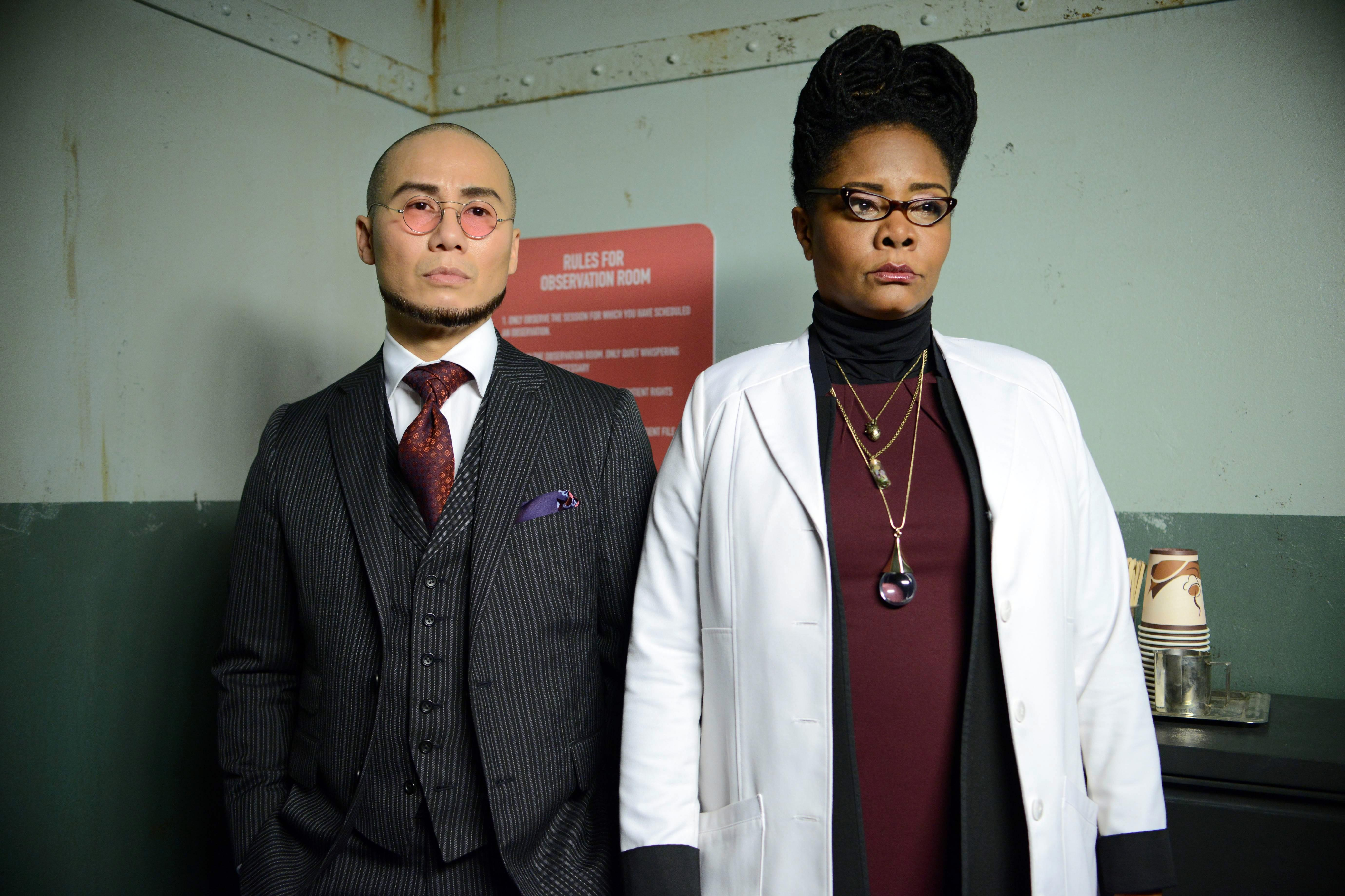 Hugo Strange and Ms. Peabody