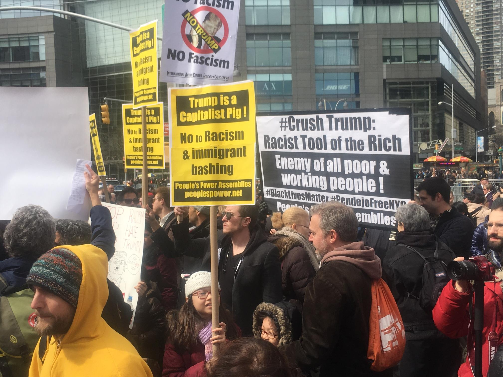 Rally Against Donald Trump, New York, March 19, 2016