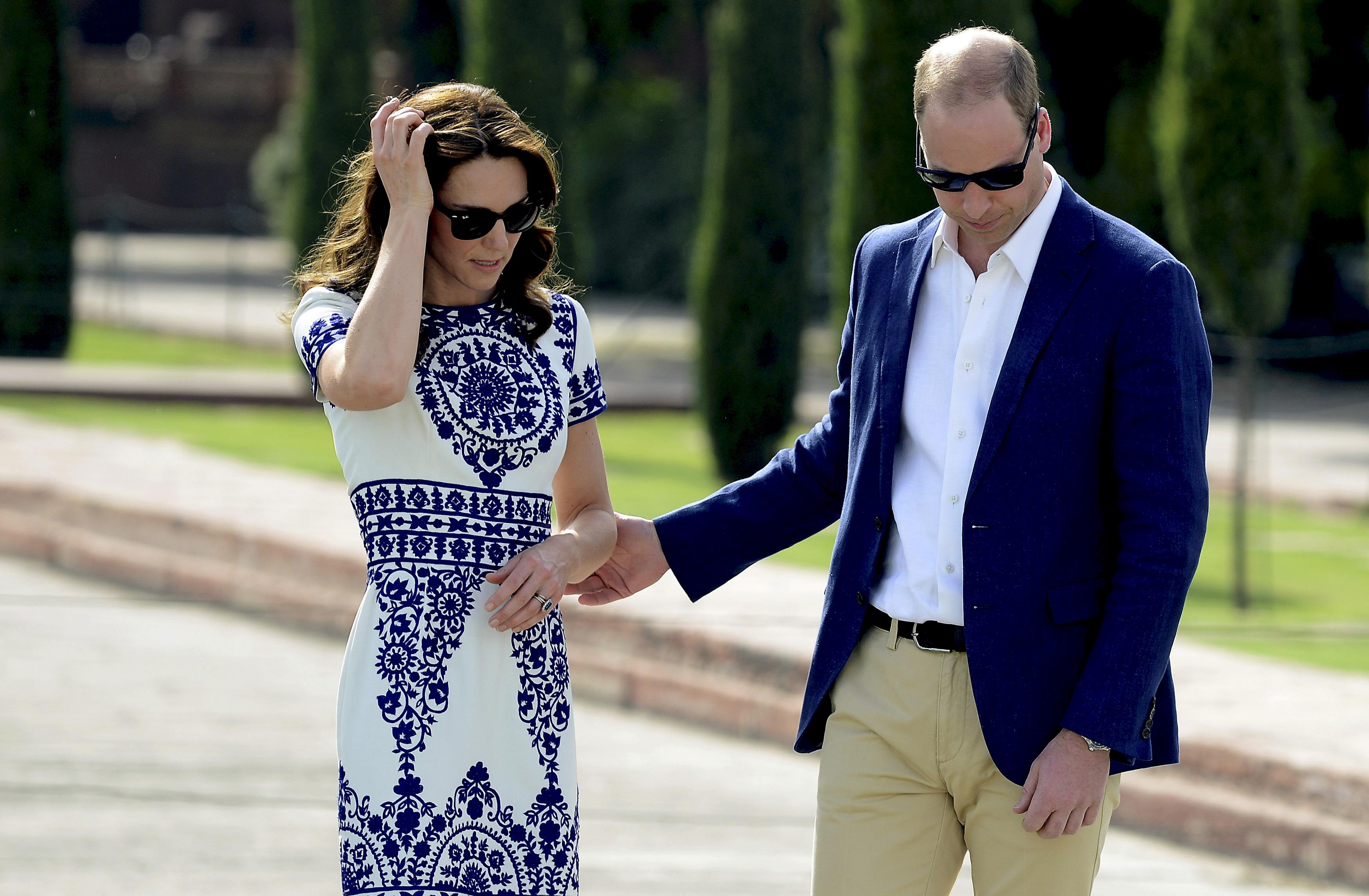 Prince William and his wife Kate Middleton