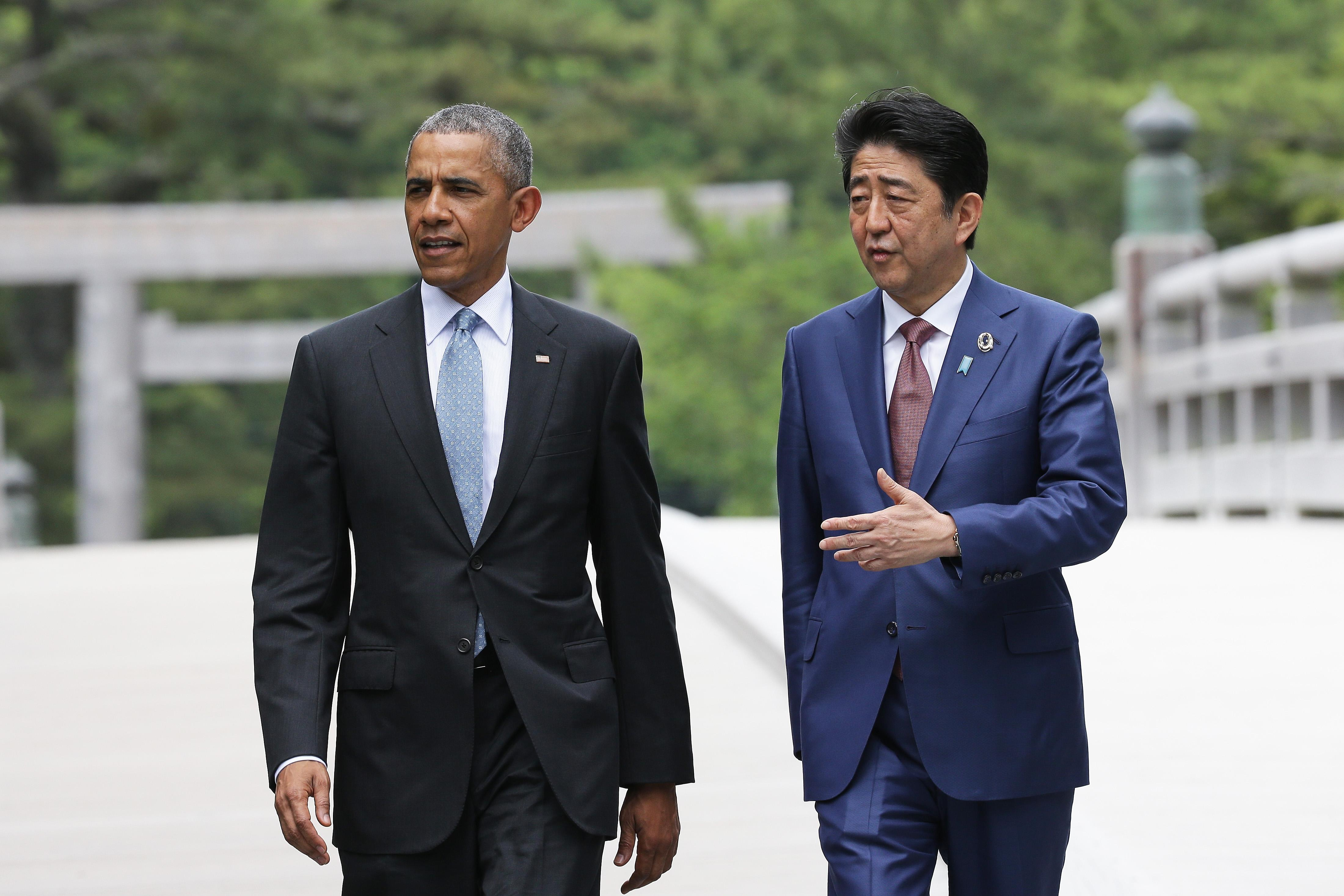 Barack Obama, Shinzo Abe