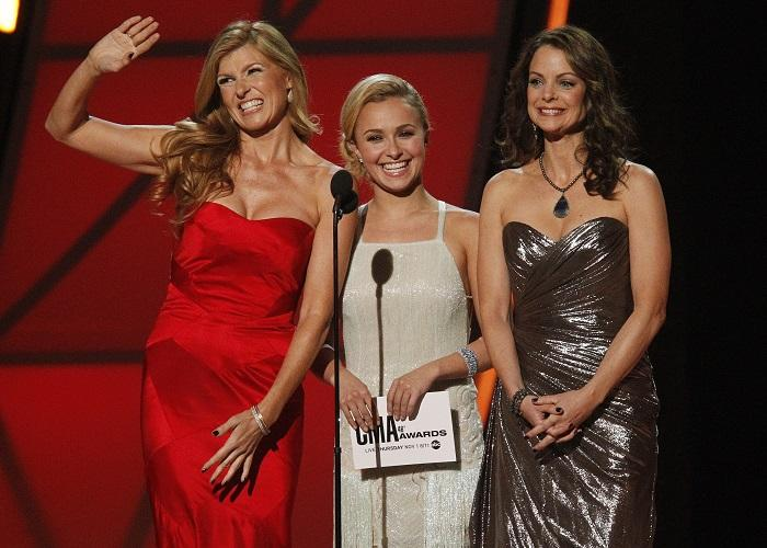 Connie Britton (L), Hayden Panettiere (C) and Kimberly Williams-Paisley