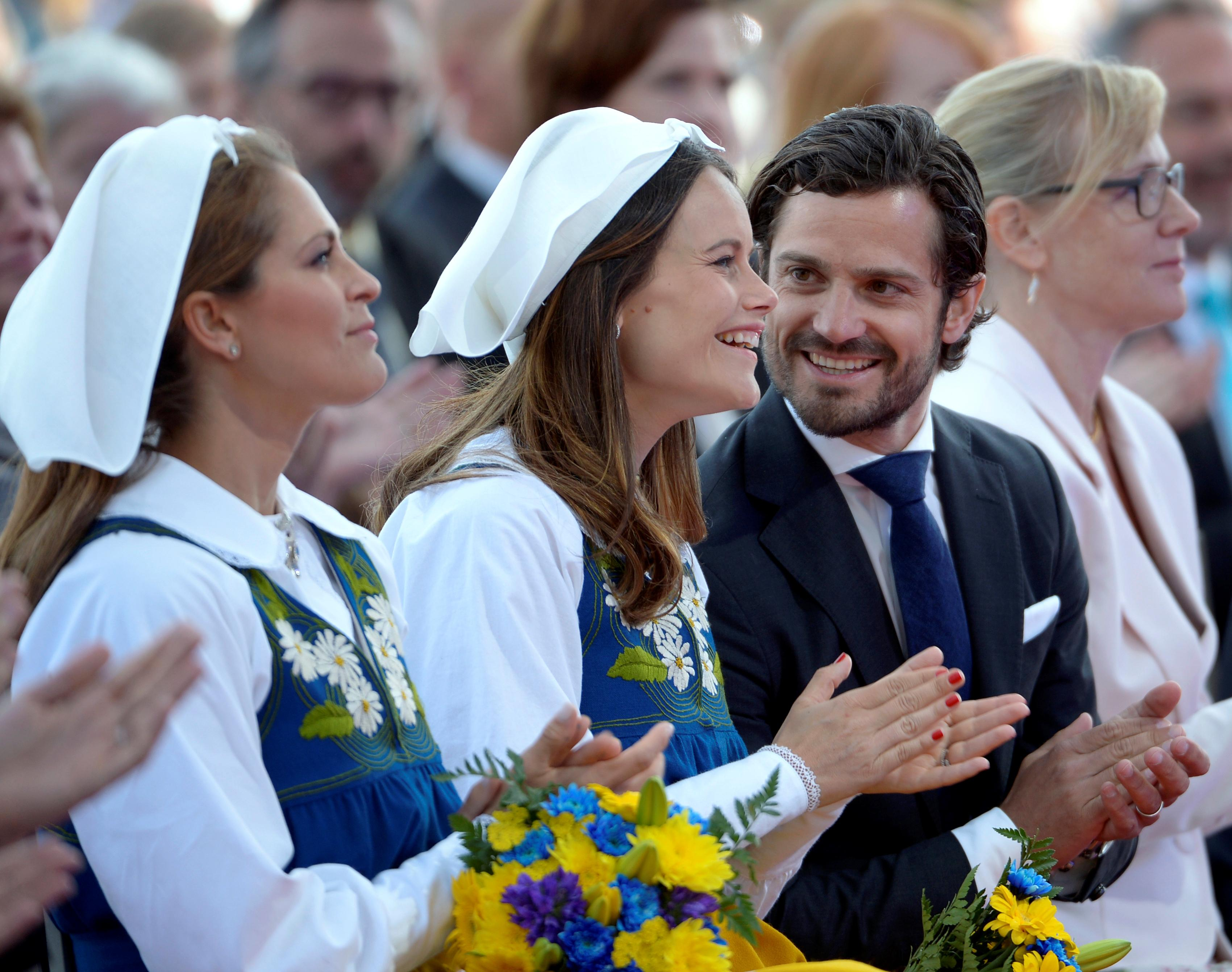 Princess Sofia wears the traditional Swedish headscarf for the first time