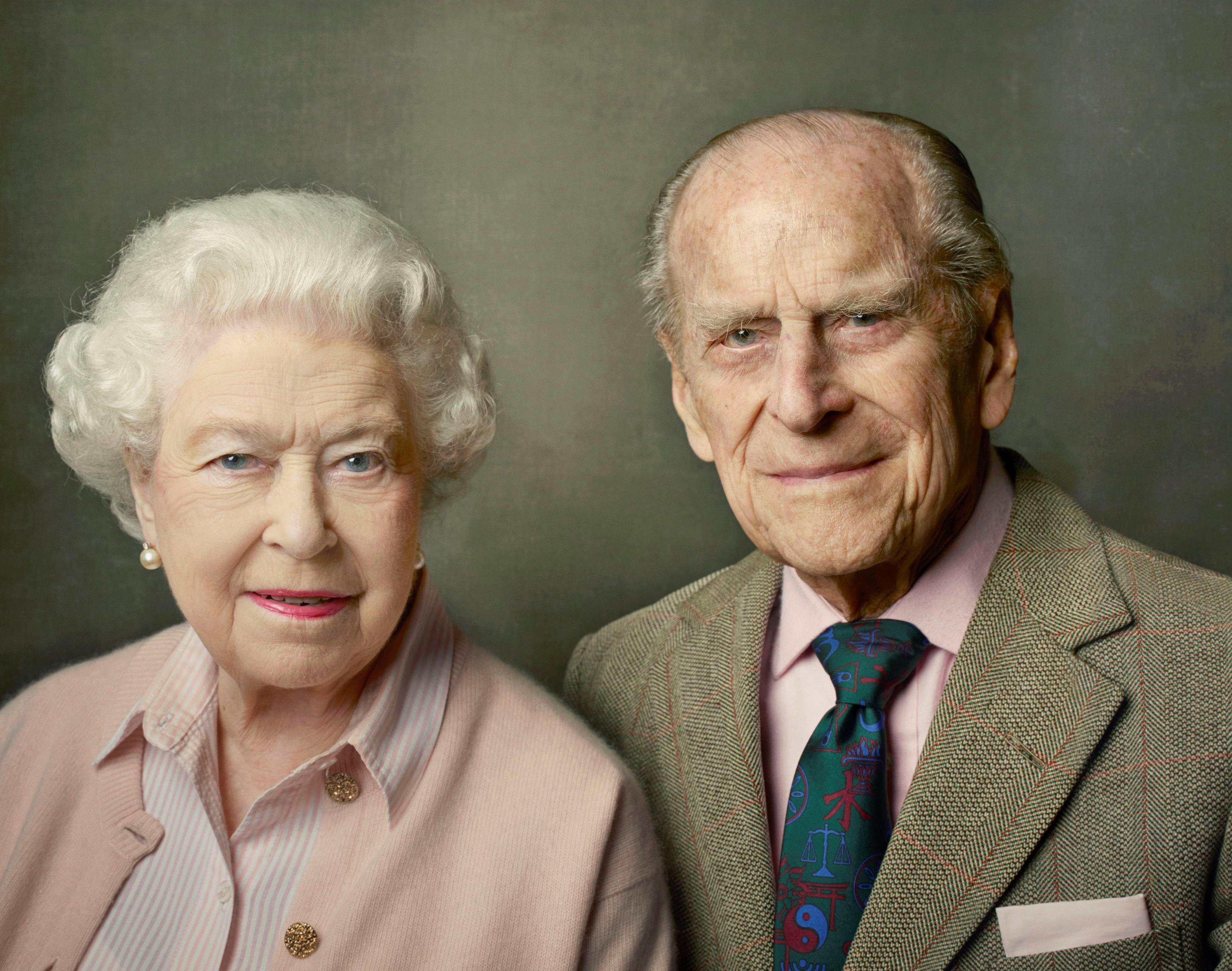 Britain's Queen Elizabeth with her husband, Prince Philip