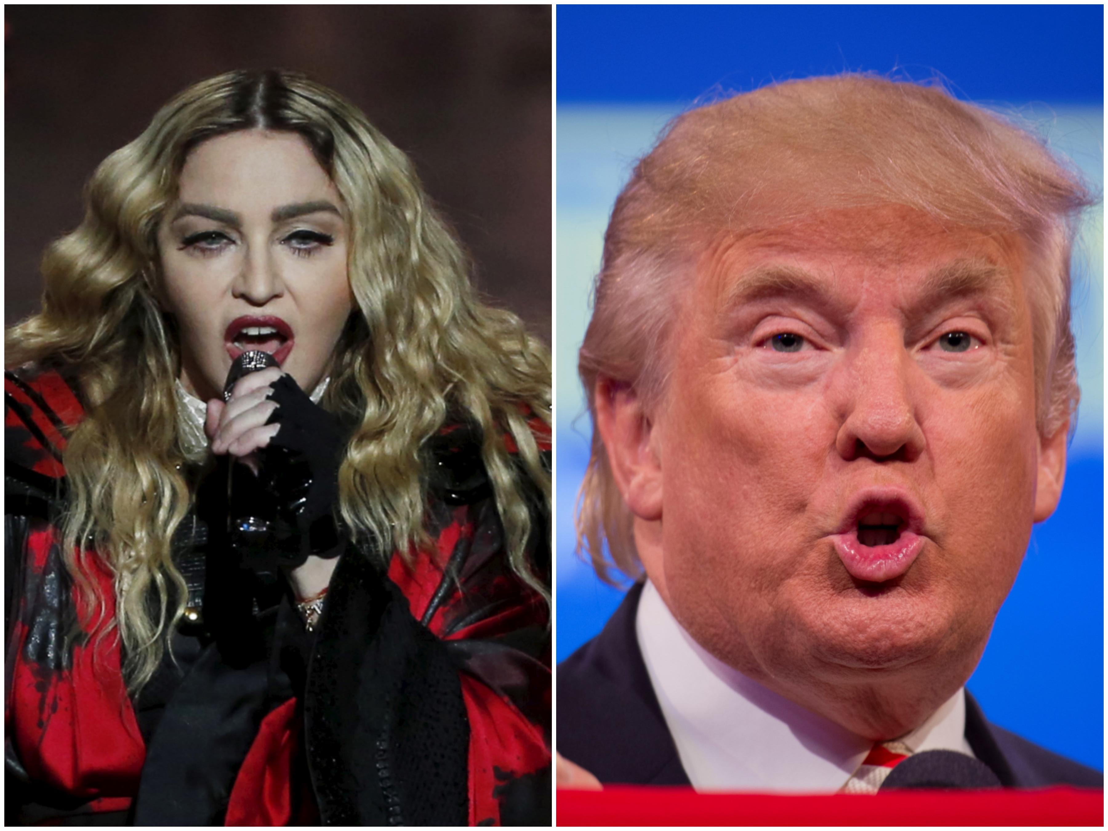 Madonna and Donald Trump