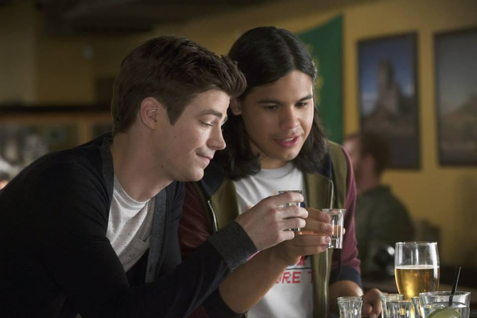 Grant Gustin as Barry, Carlos Valdes as Cisco