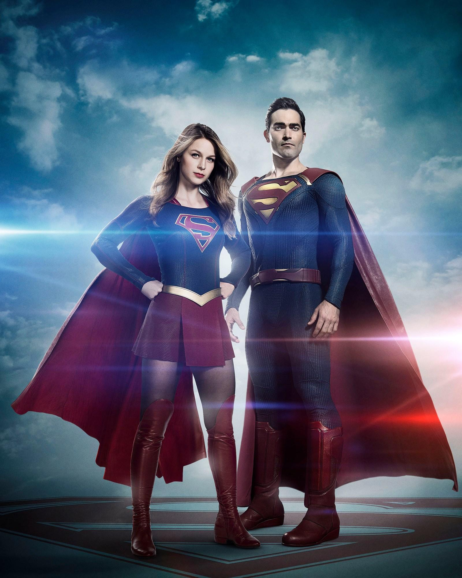 Melissa Benoist as Supergirl, Tyler Hoechlin as Superman