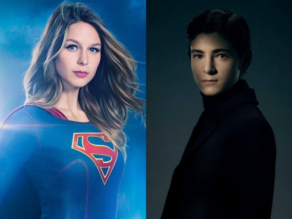Melissa Benoist as Supergirl, David Mazouz as Bruce Wayne