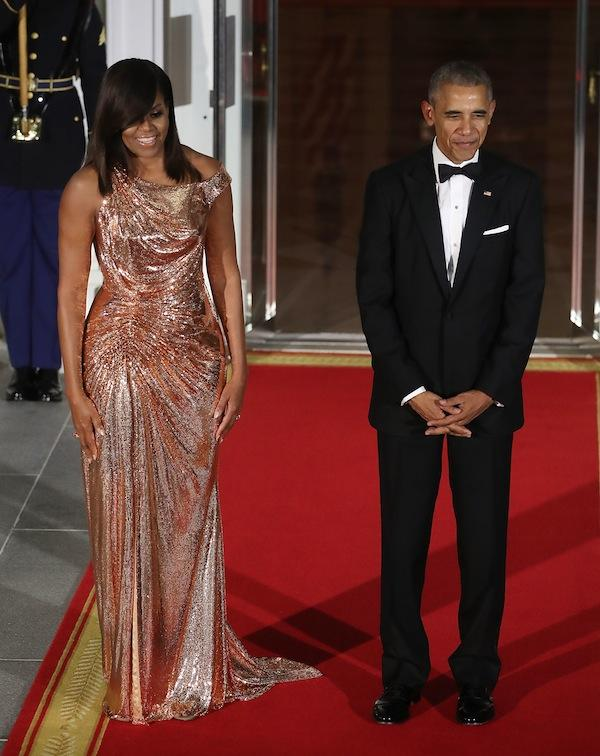 Michelle Obama and President Barak Obama