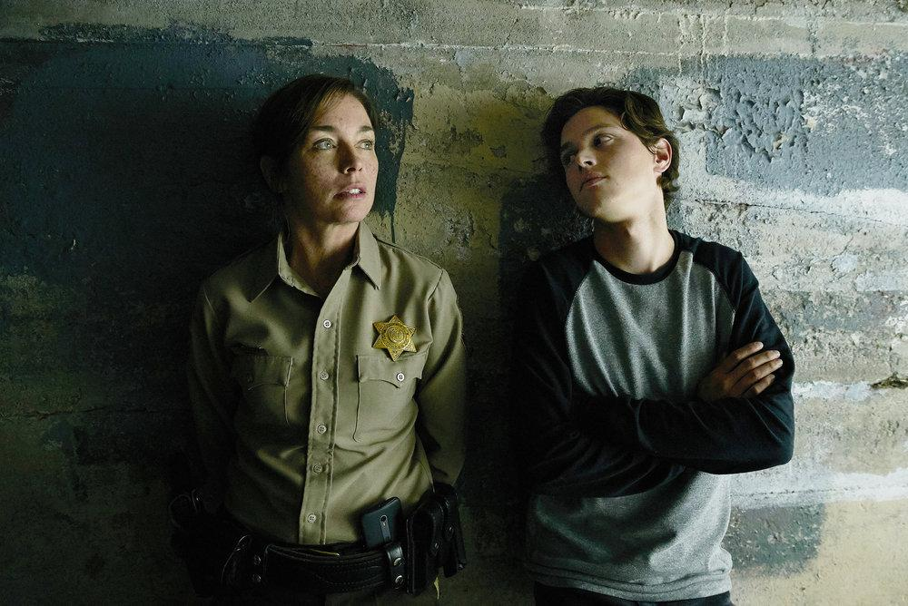 Julianne Nicholson as Helen and Tyler Young as Philip