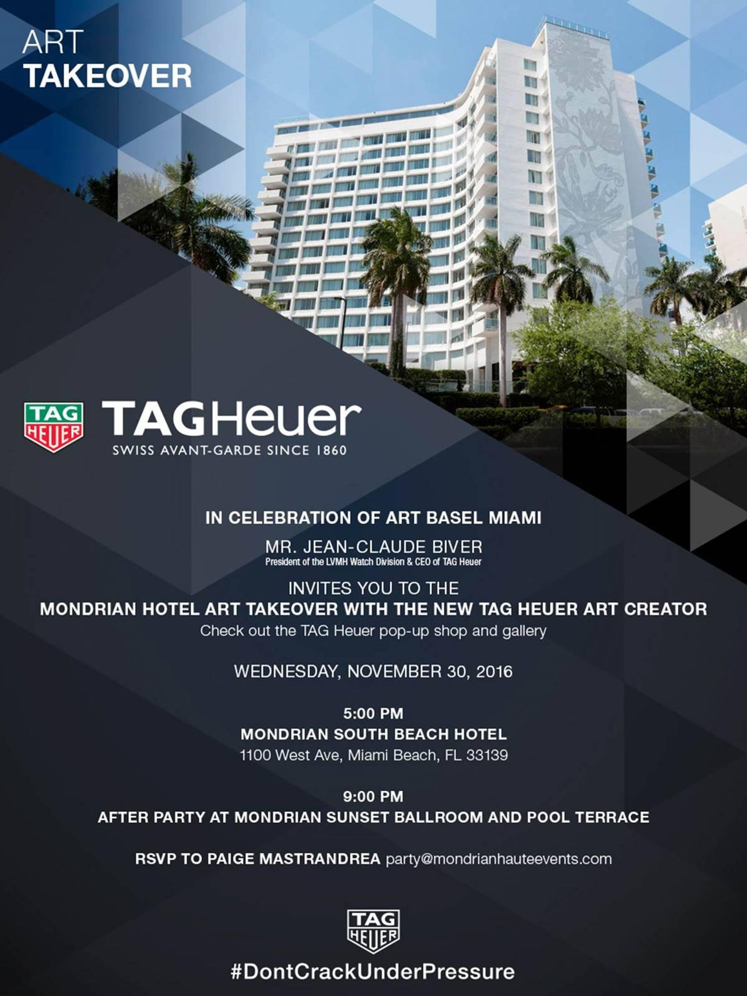 Alec Monopoly Art Takeover X TAG HEUER At Mondrian Hotel