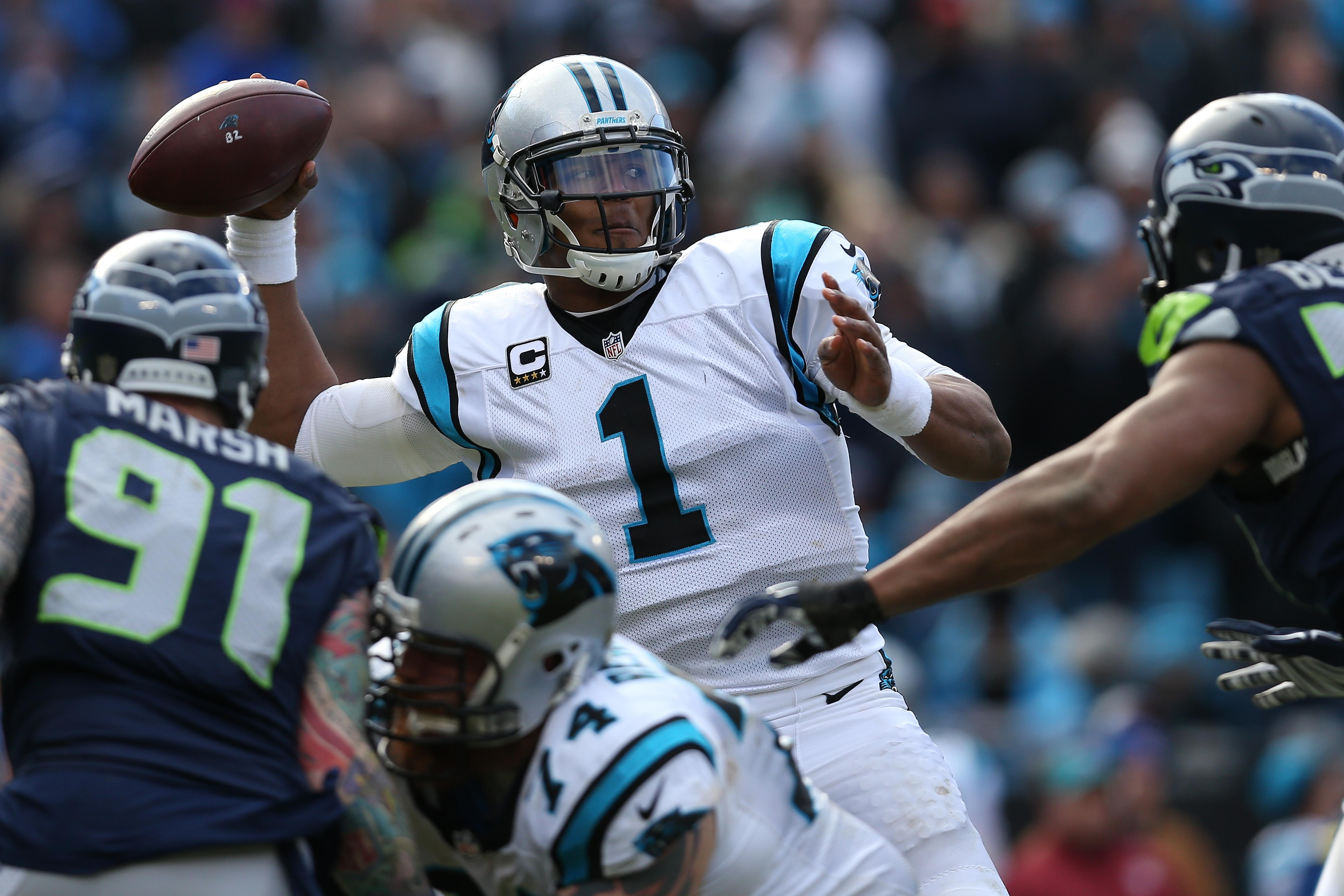 Cam Newton Panthers Seahawks