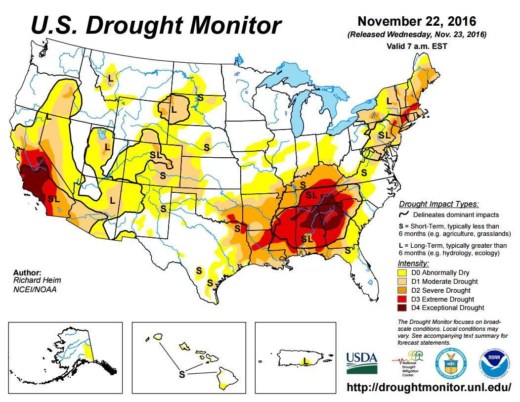 drought monitor UNL