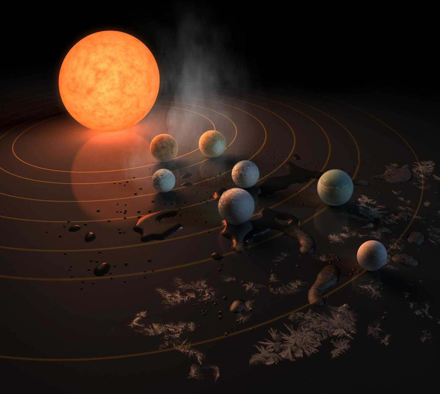 Exoplanets Of TRAPPIST-1 System Orbit In Synchronized Musical Harmonies, Making It Stable
