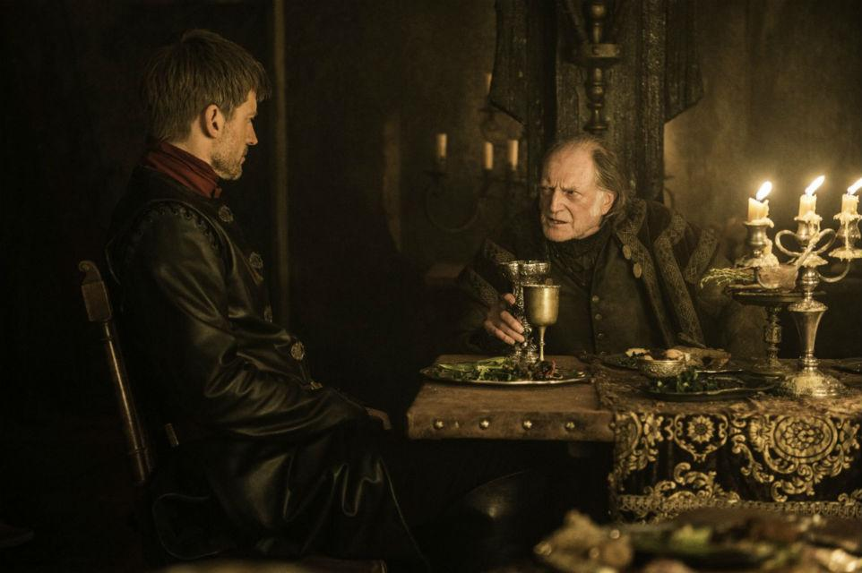 "Jaime Lannister and Walder Frey on ""Game of Thrones"