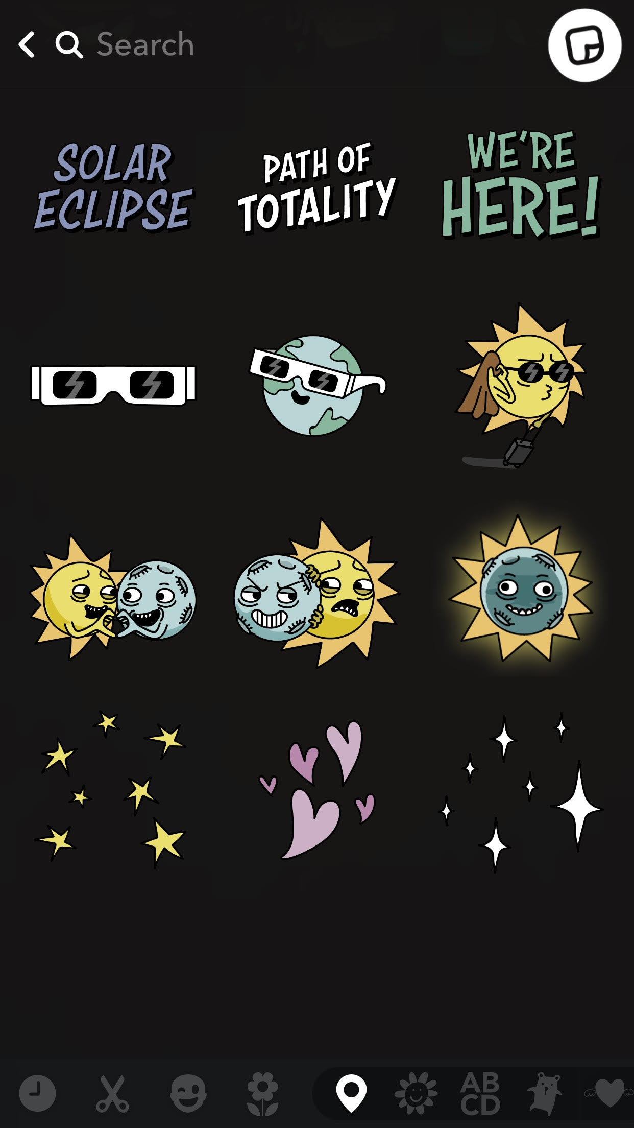 eclipse stickers snapchat