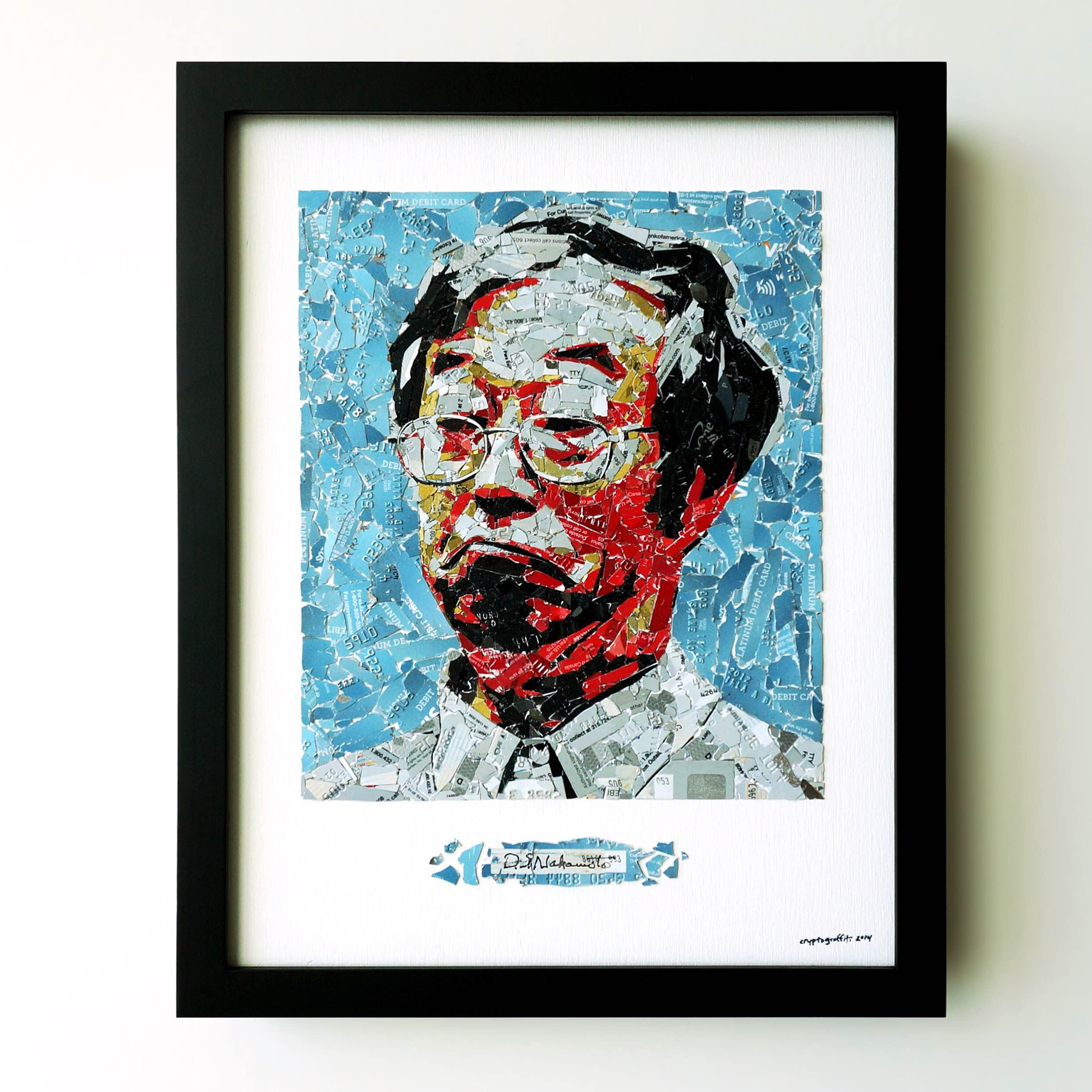 Nakamoto credit card collage by cryptograffiti