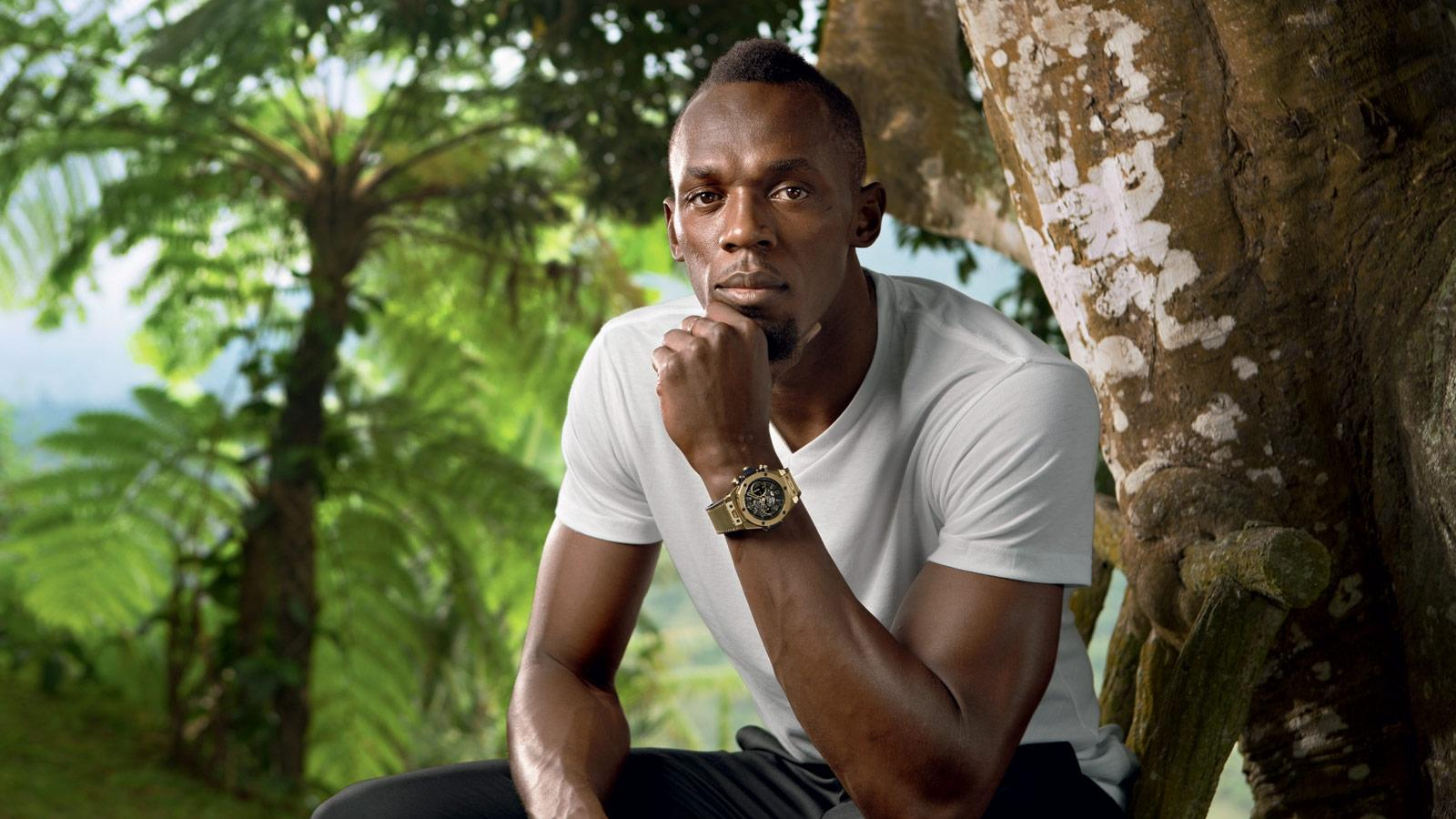 Usain Bolt with Hublot watch hi-res