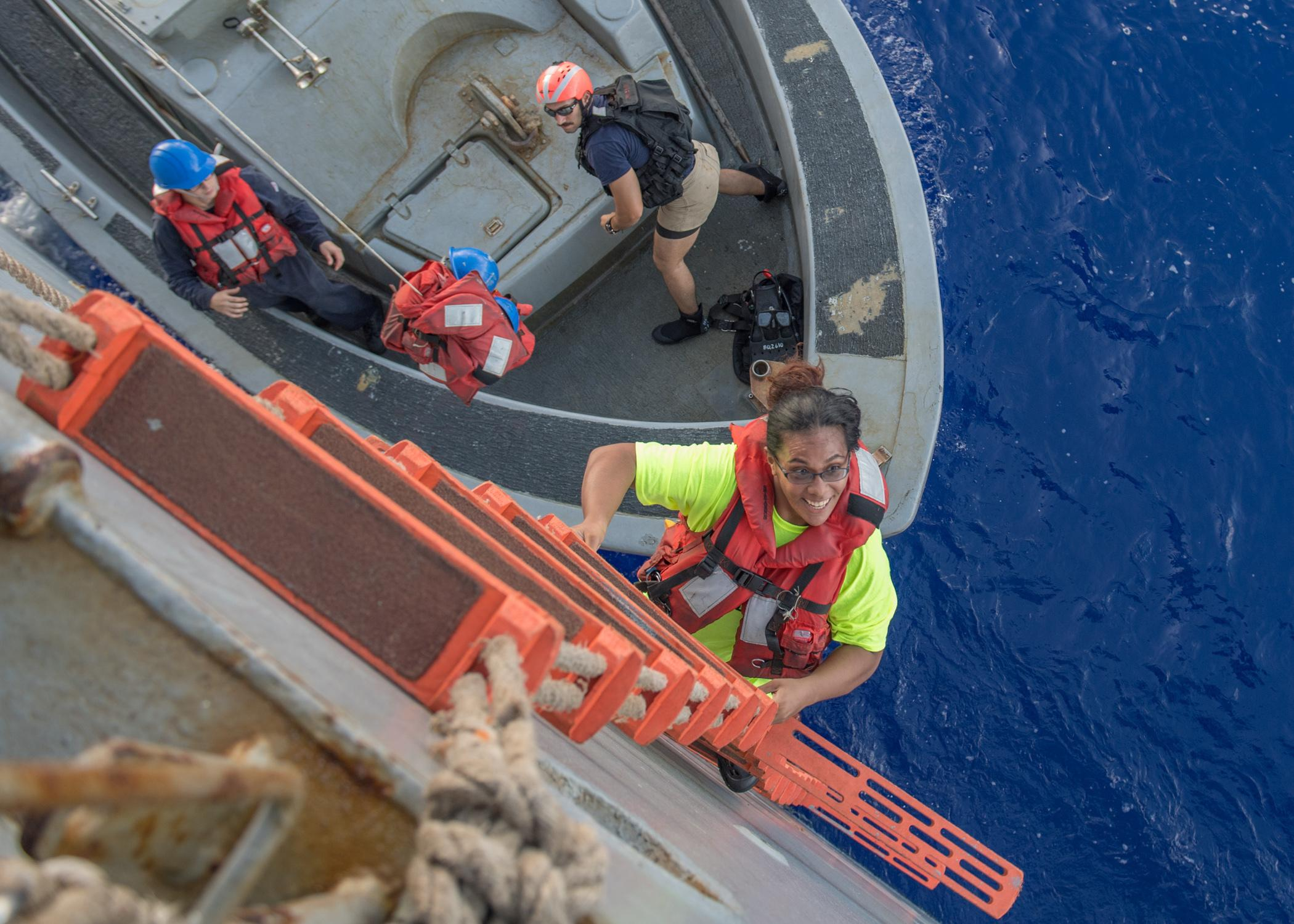 Women Rescued At Sea