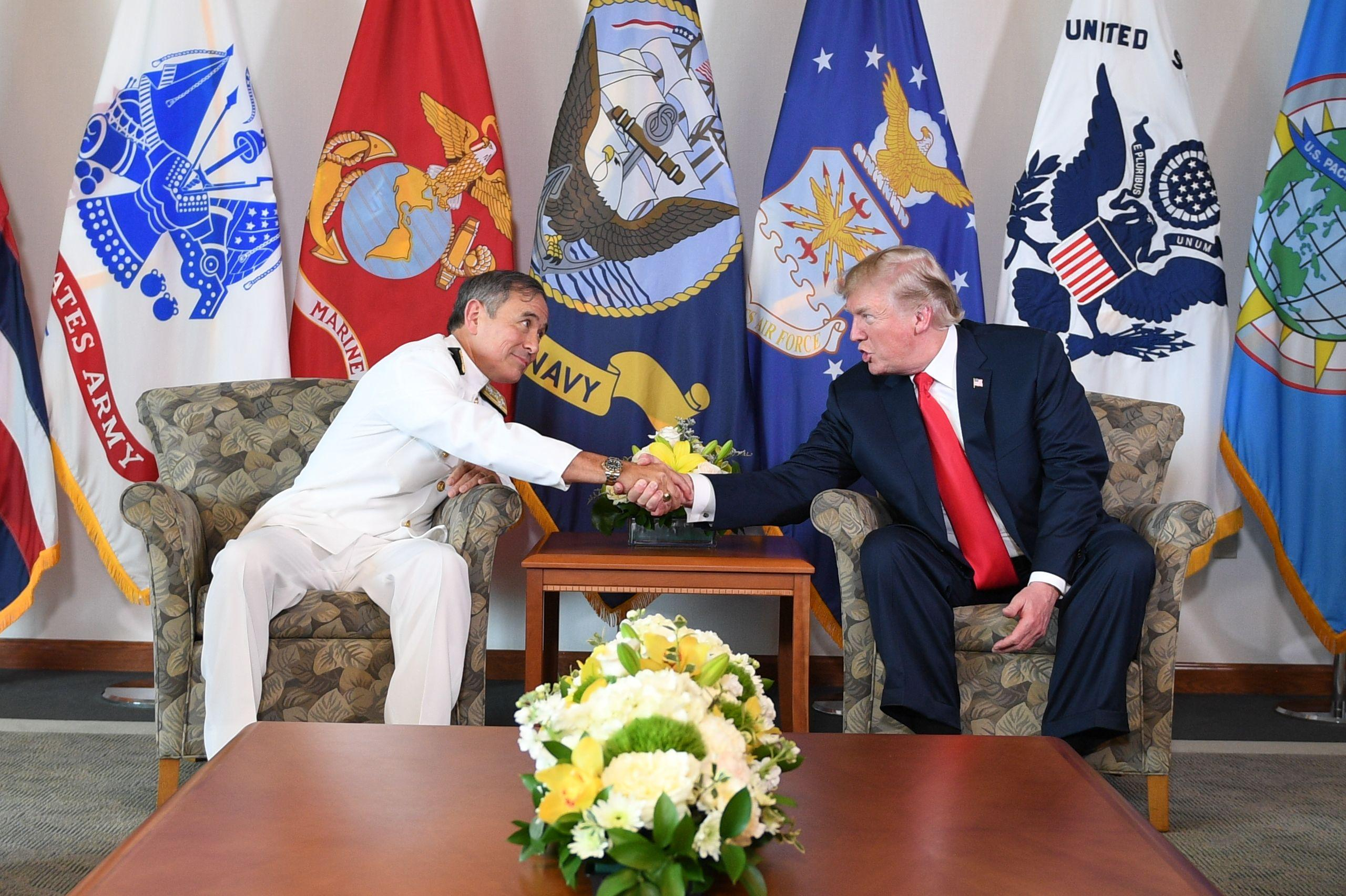 Trump at Pacific command