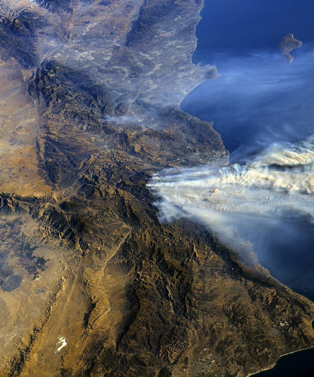 California fire from space