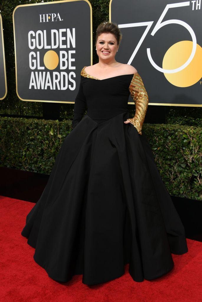 Image result for golden globes 2018 worst dressed kelly clarkson