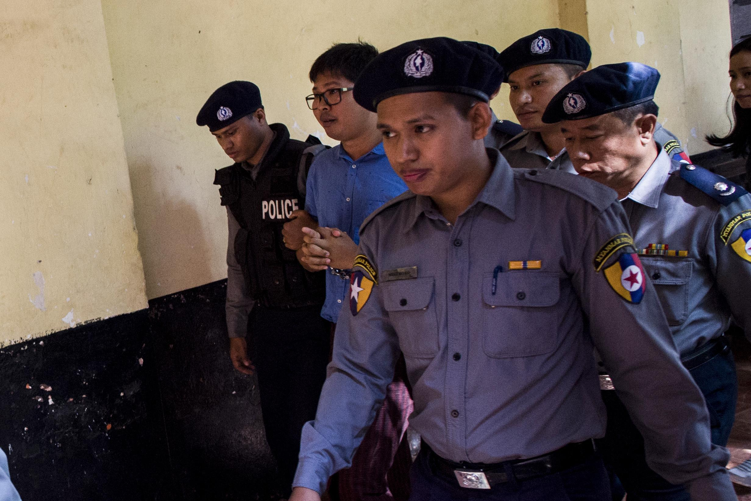 Two Reuters journalists covering crimes against Rohingya arrested in Myanmar
