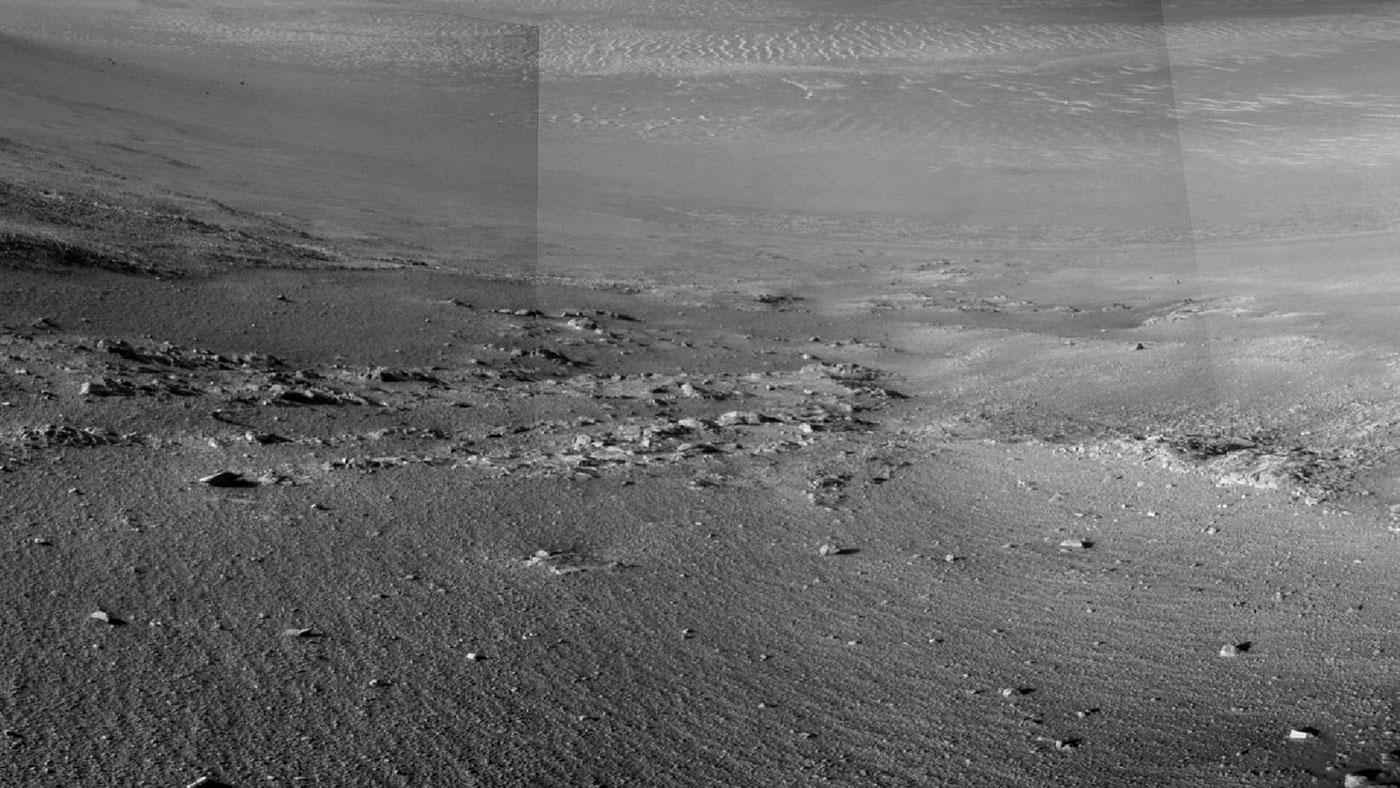 Opportunity Rover Rock Stripes