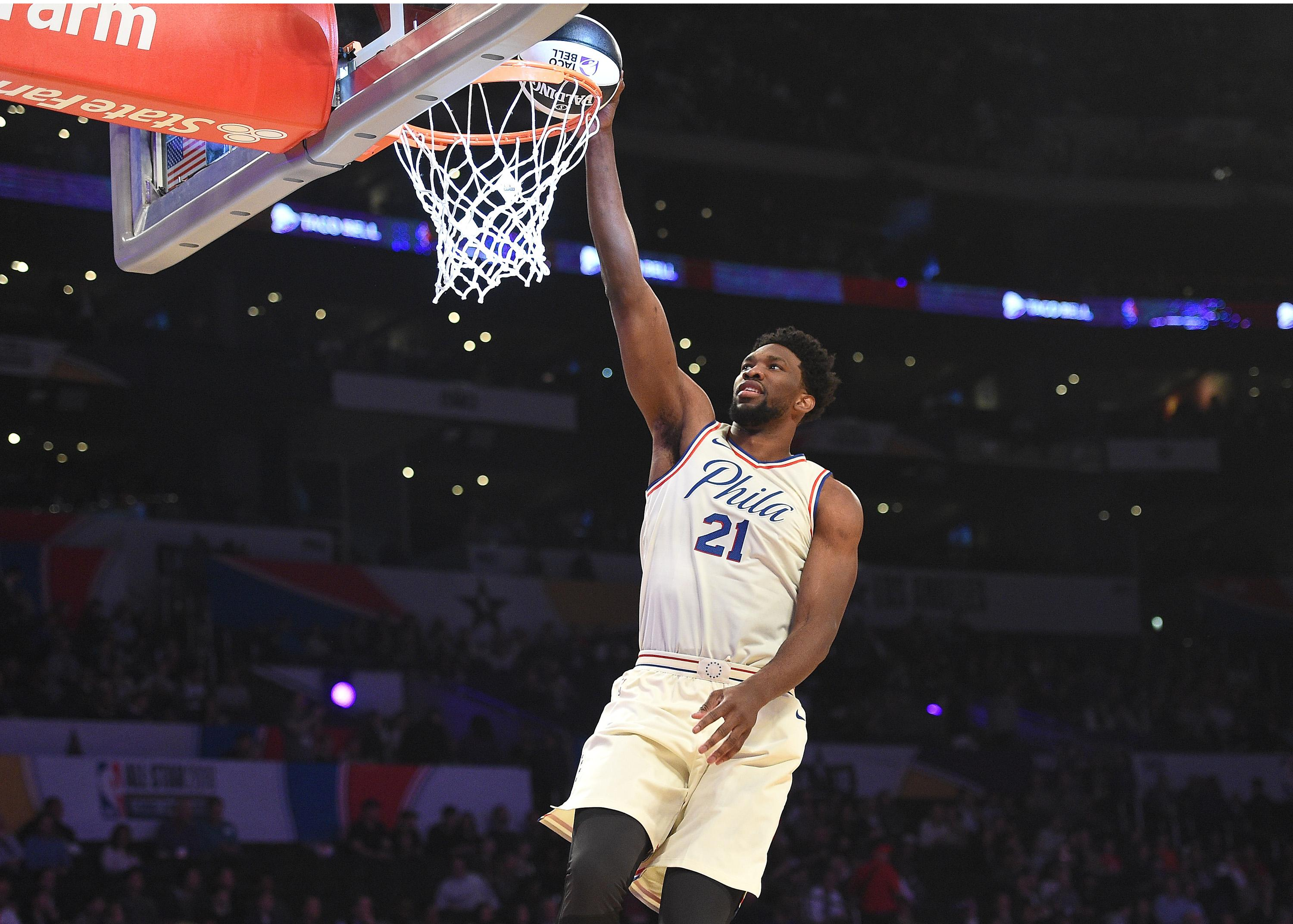 Joel Embiid impresses in first NBA All-Star appearance