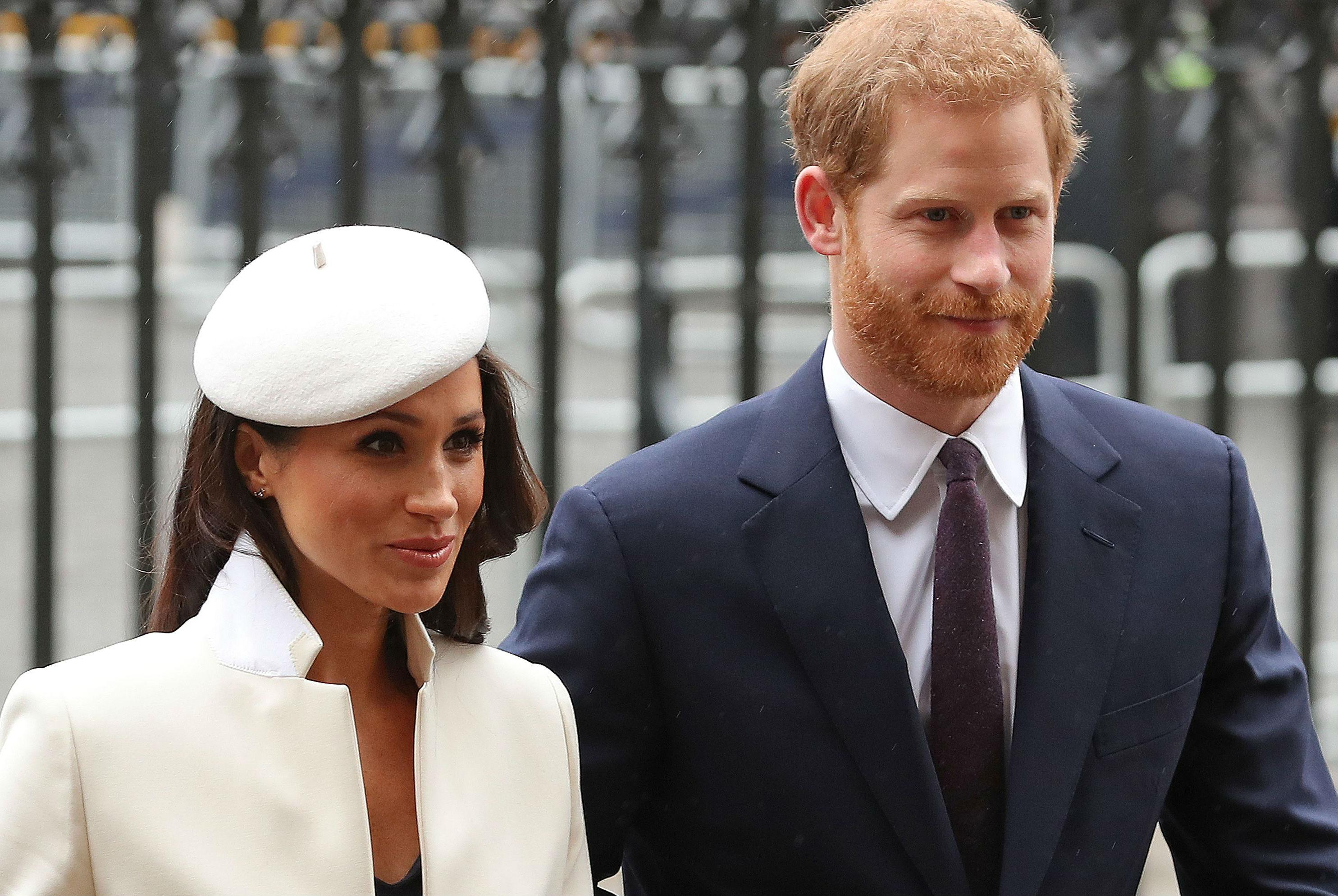 Meghan Markle joins Queen for Westminster Abbey Commonwealth service