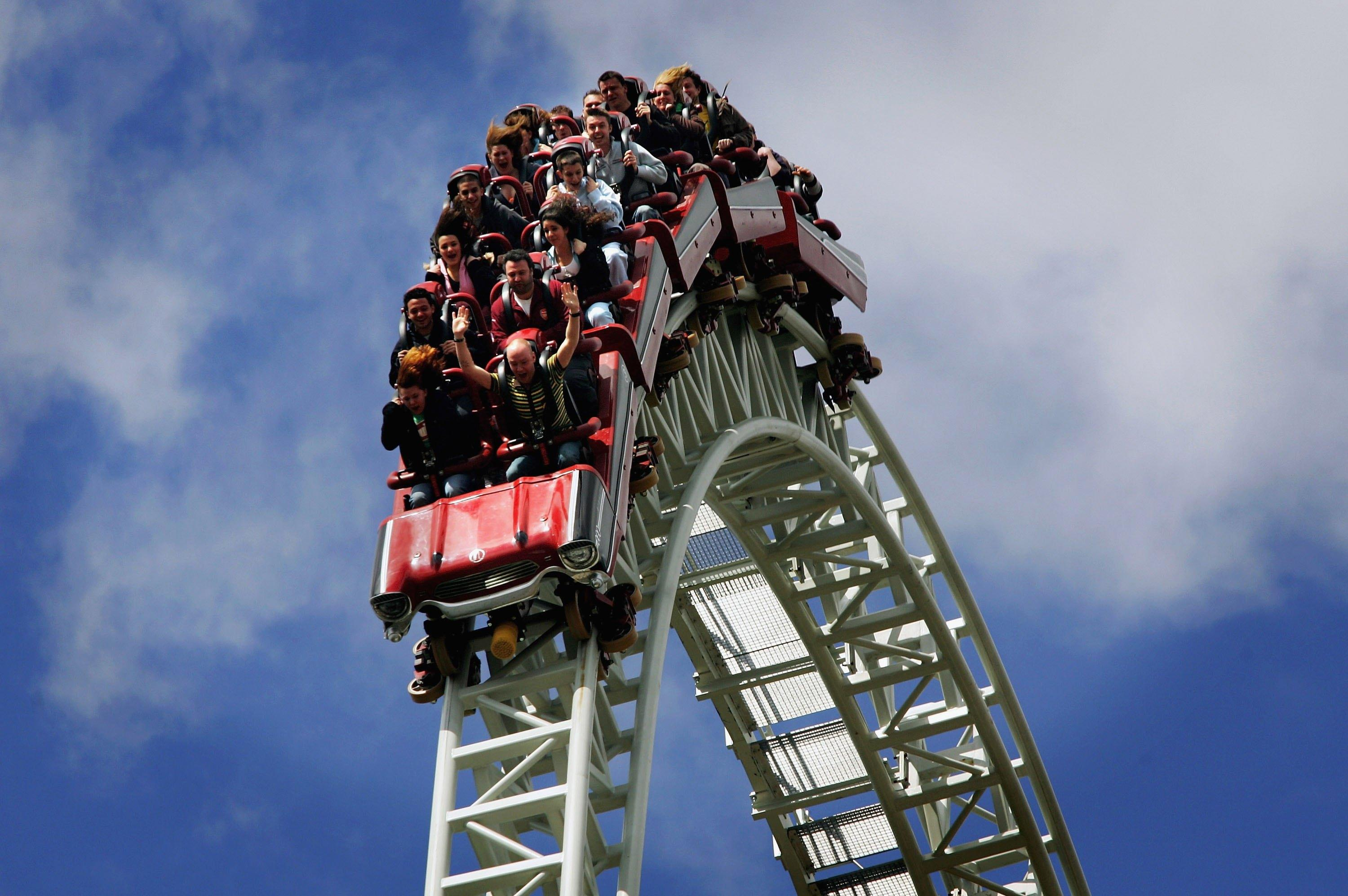 Dozens left hanging upside down 100 feet high on Japanese rollercoaster