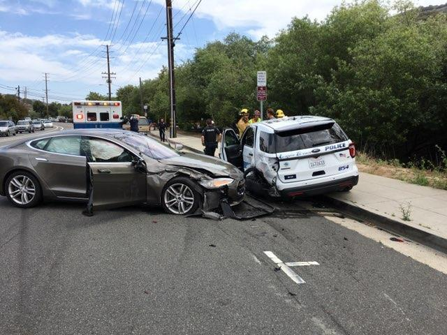 Laguna Beach Tesla Crash