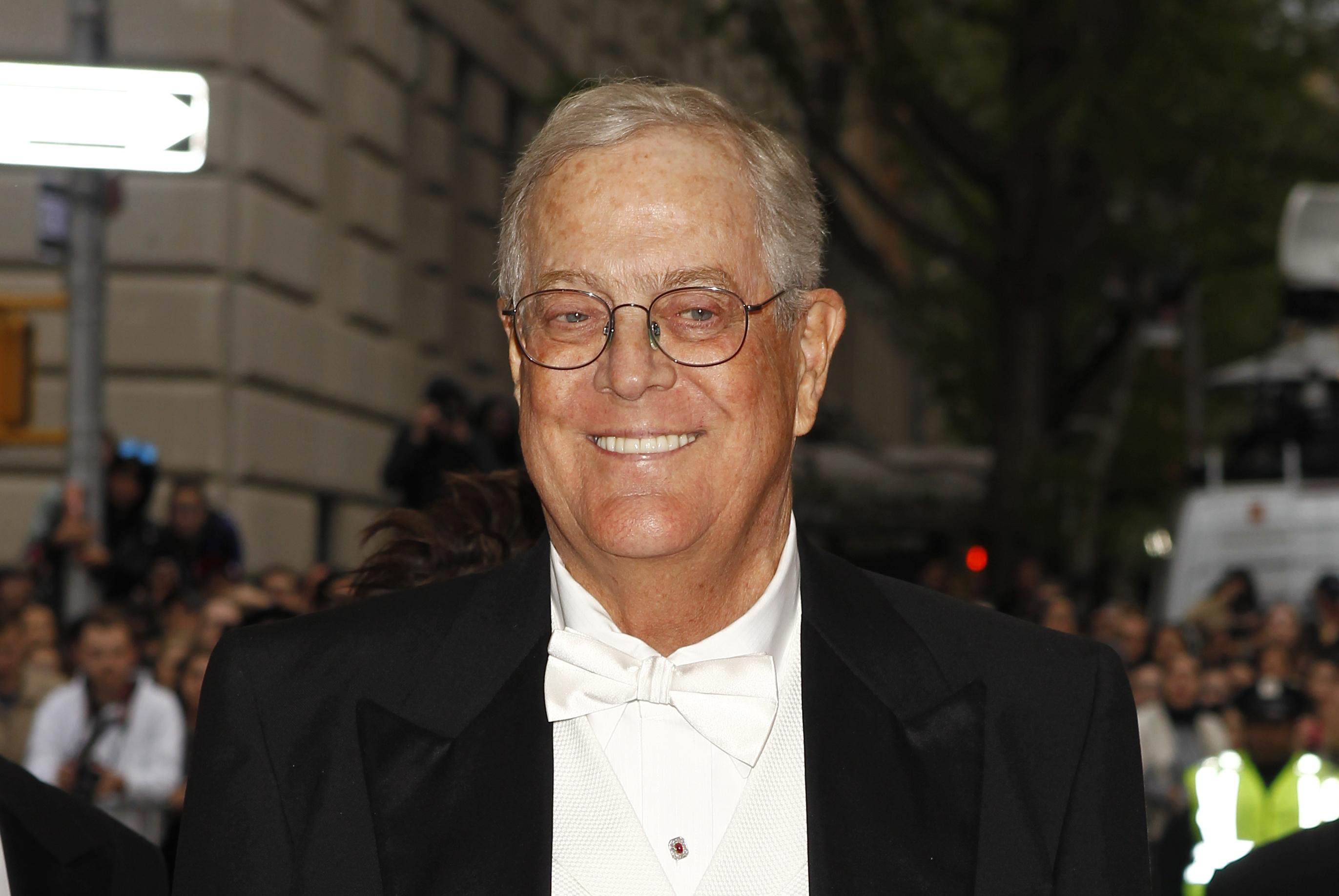 Heavyweight political donor David Koch to retire from Koch Industries