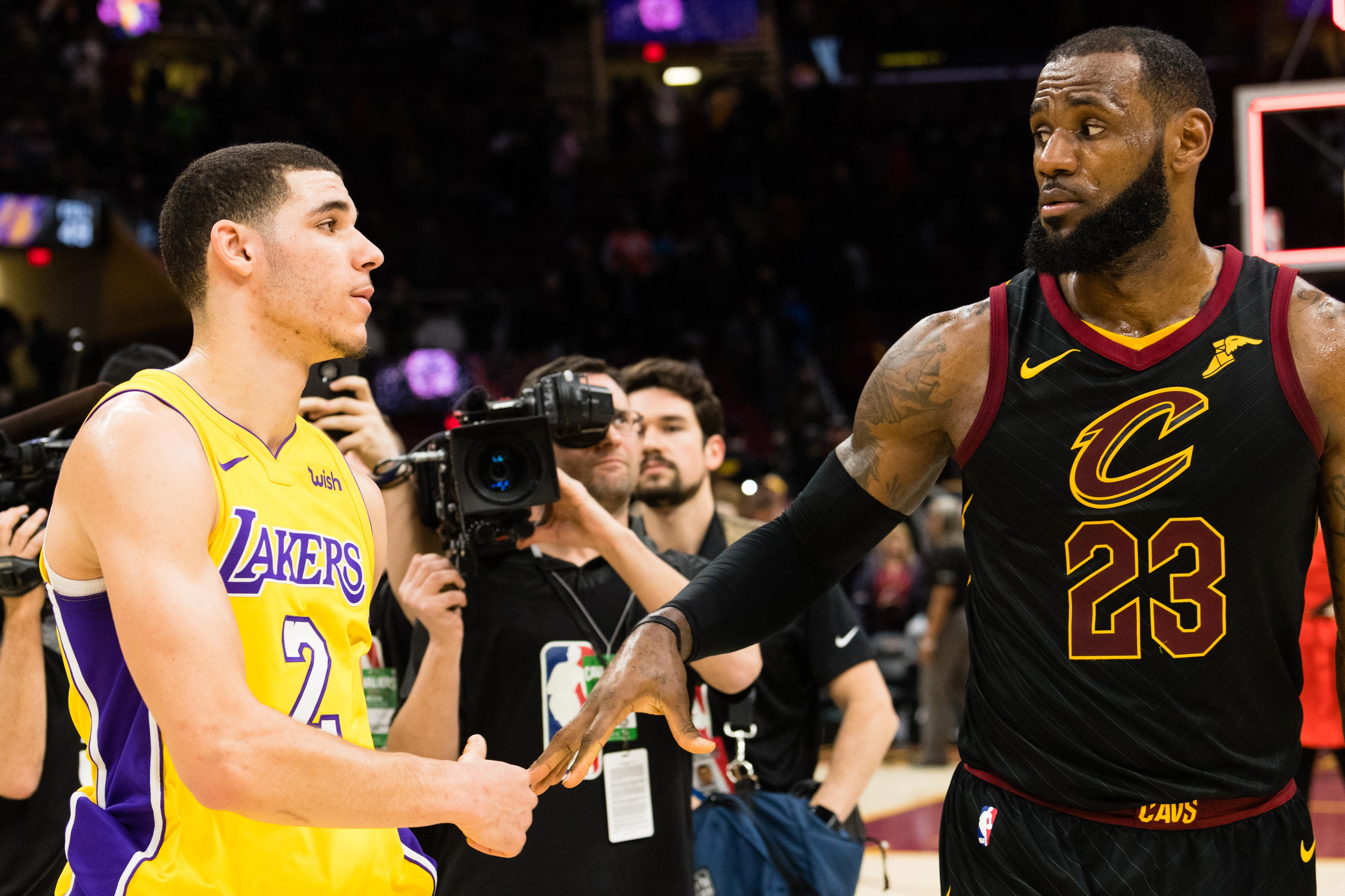 LeBron James Lonzo Ball Lakers