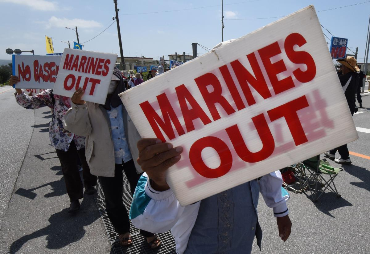 Japan's Okinawa Sees Massive Protests Against US Military ...