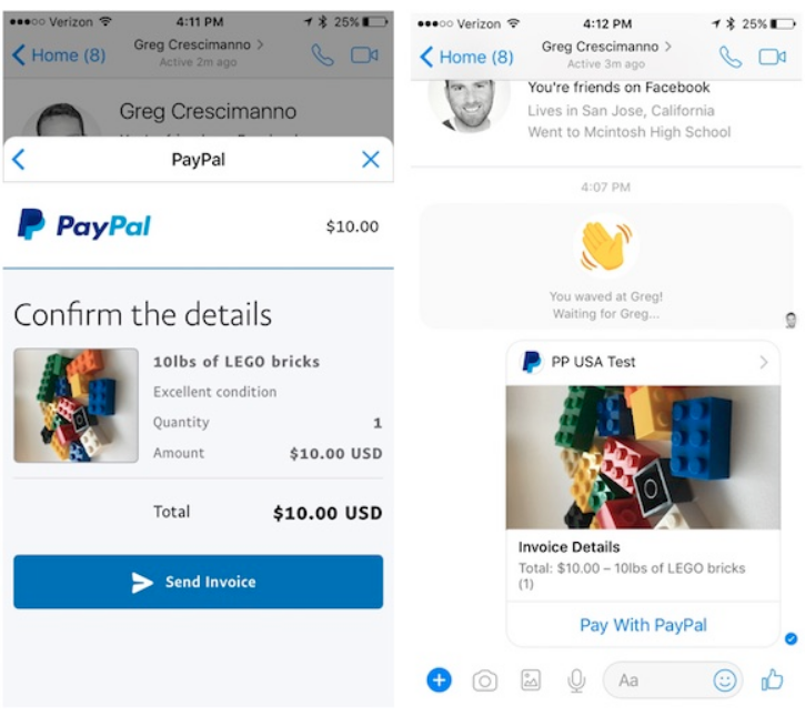 How To Create And Send PayPal Invoices On Facebook Messenger App - How do i create a paypal invoice online computer store